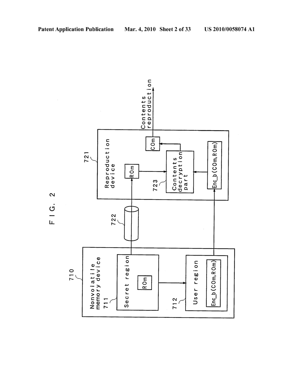 RIGHT INFORMATION ENCRYPTION MODULE, NONVOLATILE MEMORY DEVICE, RIGHT INFORMATION RECORDING SYSTEM, RIGHT INFORMATION DECRYPTION MODULE, RIGHT INFORMATION READING SYSTEM, AND RIGHT INFORMATION RECORDING/READING SYSTEM - diagram, schematic, and image 03