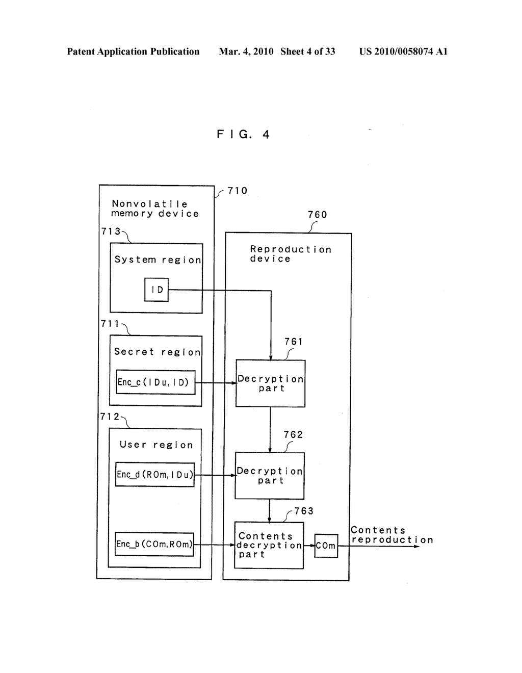RIGHT INFORMATION ENCRYPTION MODULE, NONVOLATILE MEMORY DEVICE, RIGHT INFORMATION RECORDING SYSTEM, RIGHT INFORMATION DECRYPTION MODULE, RIGHT INFORMATION READING SYSTEM, AND RIGHT INFORMATION RECORDING/READING SYSTEM - diagram, schematic, and image 05