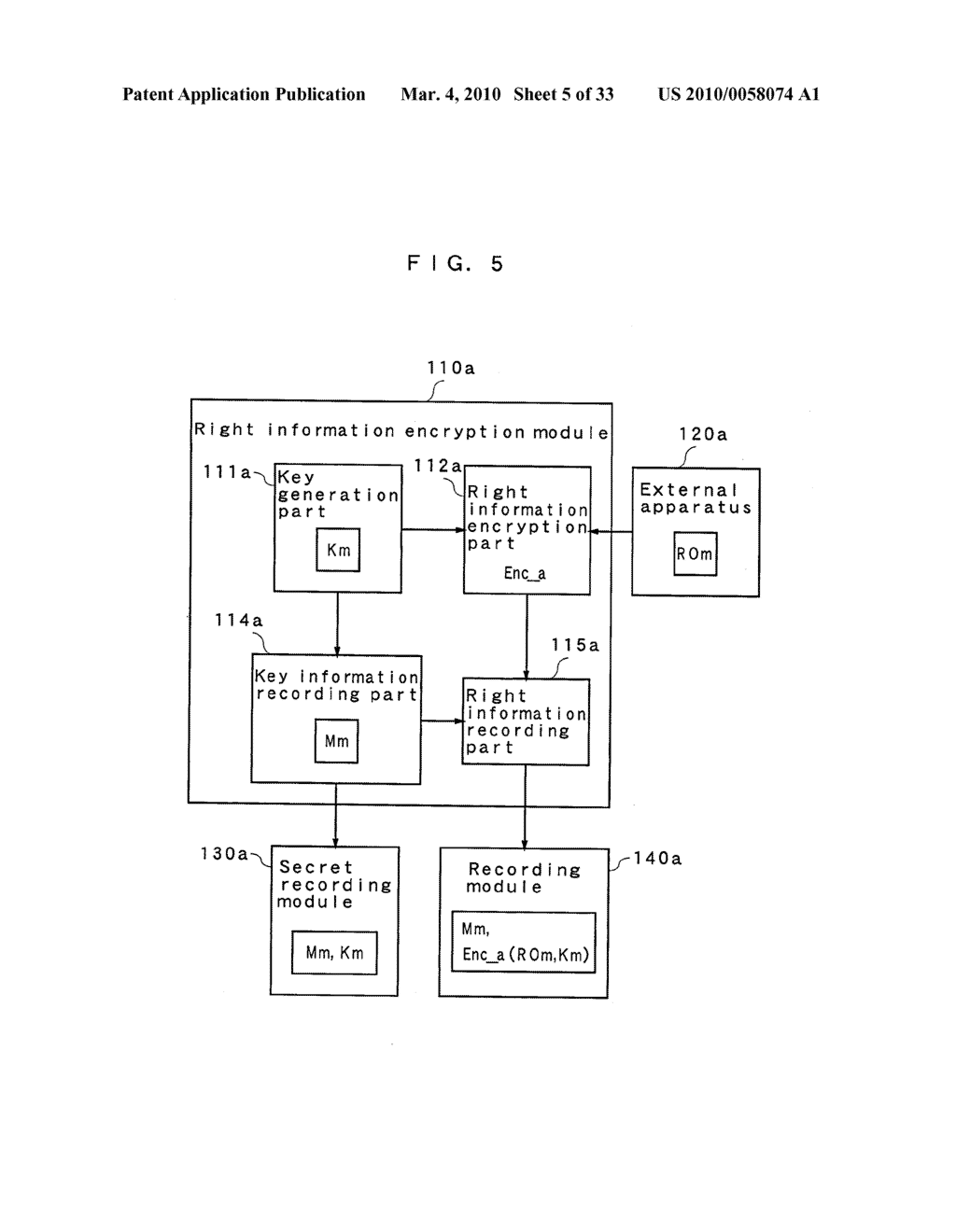 RIGHT INFORMATION ENCRYPTION MODULE, NONVOLATILE MEMORY DEVICE, RIGHT INFORMATION RECORDING SYSTEM, RIGHT INFORMATION DECRYPTION MODULE, RIGHT INFORMATION READING SYSTEM, AND RIGHT INFORMATION RECORDING/READING SYSTEM - diagram, schematic, and image 06