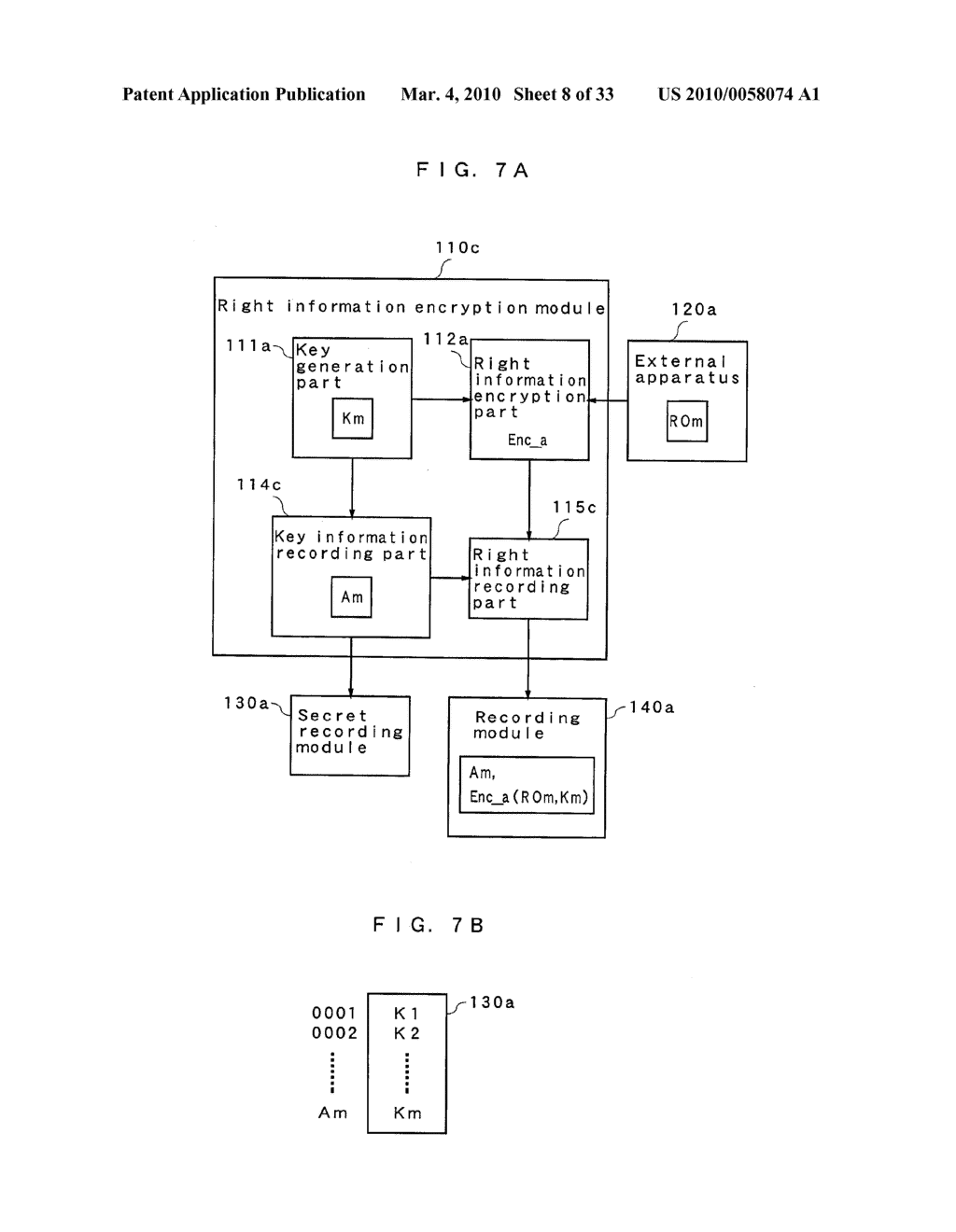 RIGHT INFORMATION ENCRYPTION MODULE, NONVOLATILE MEMORY DEVICE, RIGHT INFORMATION RECORDING SYSTEM, RIGHT INFORMATION DECRYPTION MODULE, RIGHT INFORMATION READING SYSTEM, AND RIGHT INFORMATION RECORDING/READING SYSTEM - diagram, schematic, and image 09