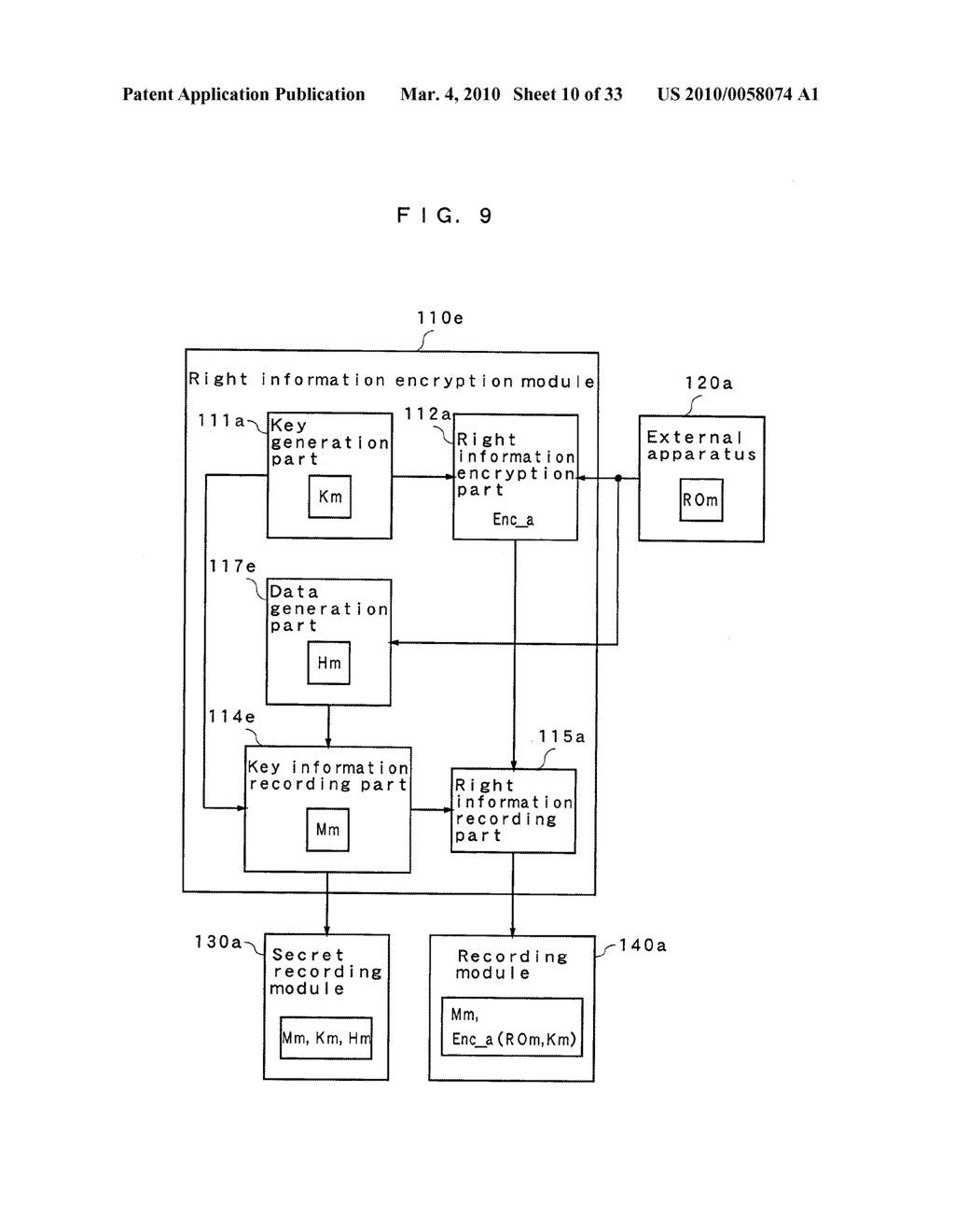 RIGHT INFORMATION ENCRYPTION MODULE, NONVOLATILE MEMORY DEVICE, RIGHT INFORMATION RECORDING SYSTEM, RIGHT INFORMATION DECRYPTION MODULE, RIGHT INFORMATION READING SYSTEM, AND RIGHT INFORMATION RECORDING/READING SYSTEM - diagram, schematic, and image 11