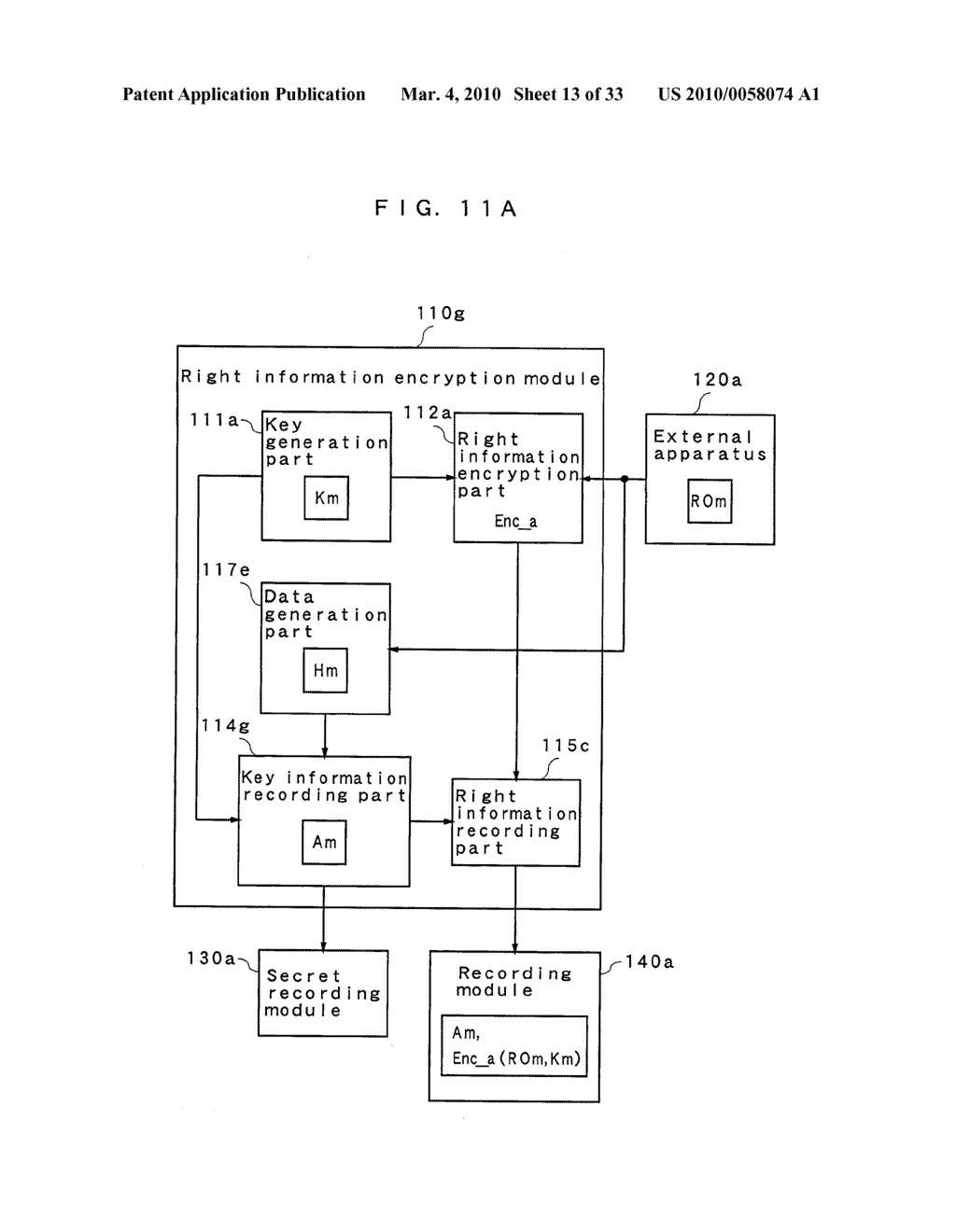 RIGHT INFORMATION ENCRYPTION MODULE, NONVOLATILE MEMORY DEVICE, RIGHT INFORMATION RECORDING SYSTEM, RIGHT INFORMATION DECRYPTION MODULE, RIGHT INFORMATION READING SYSTEM, AND RIGHT INFORMATION RECORDING/READING SYSTEM - diagram, schematic, and image 14