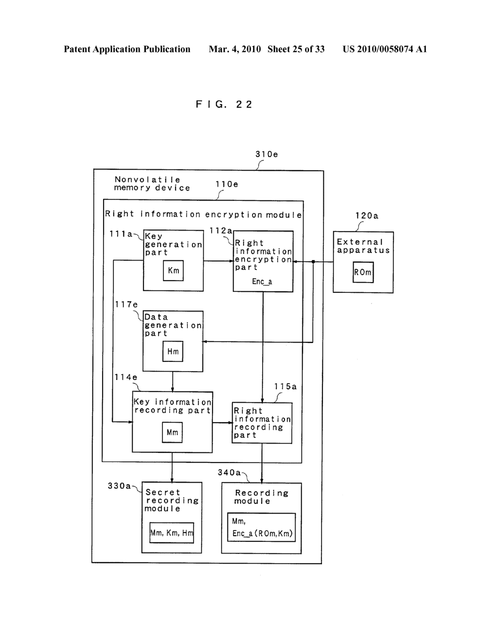 RIGHT INFORMATION ENCRYPTION MODULE, NONVOLATILE MEMORY DEVICE, RIGHT INFORMATION RECORDING SYSTEM, RIGHT INFORMATION DECRYPTION MODULE, RIGHT INFORMATION READING SYSTEM, AND RIGHT INFORMATION RECORDING/READING SYSTEM - diagram, schematic, and image 26