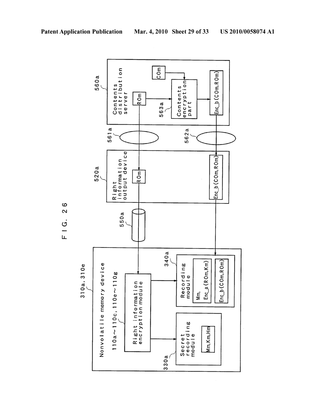 RIGHT INFORMATION ENCRYPTION MODULE, NONVOLATILE MEMORY DEVICE, RIGHT INFORMATION RECORDING SYSTEM, RIGHT INFORMATION DECRYPTION MODULE, RIGHT INFORMATION READING SYSTEM, AND RIGHT INFORMATION RECORDING/READING SYSTEM - diagram, schematic, and image 30
