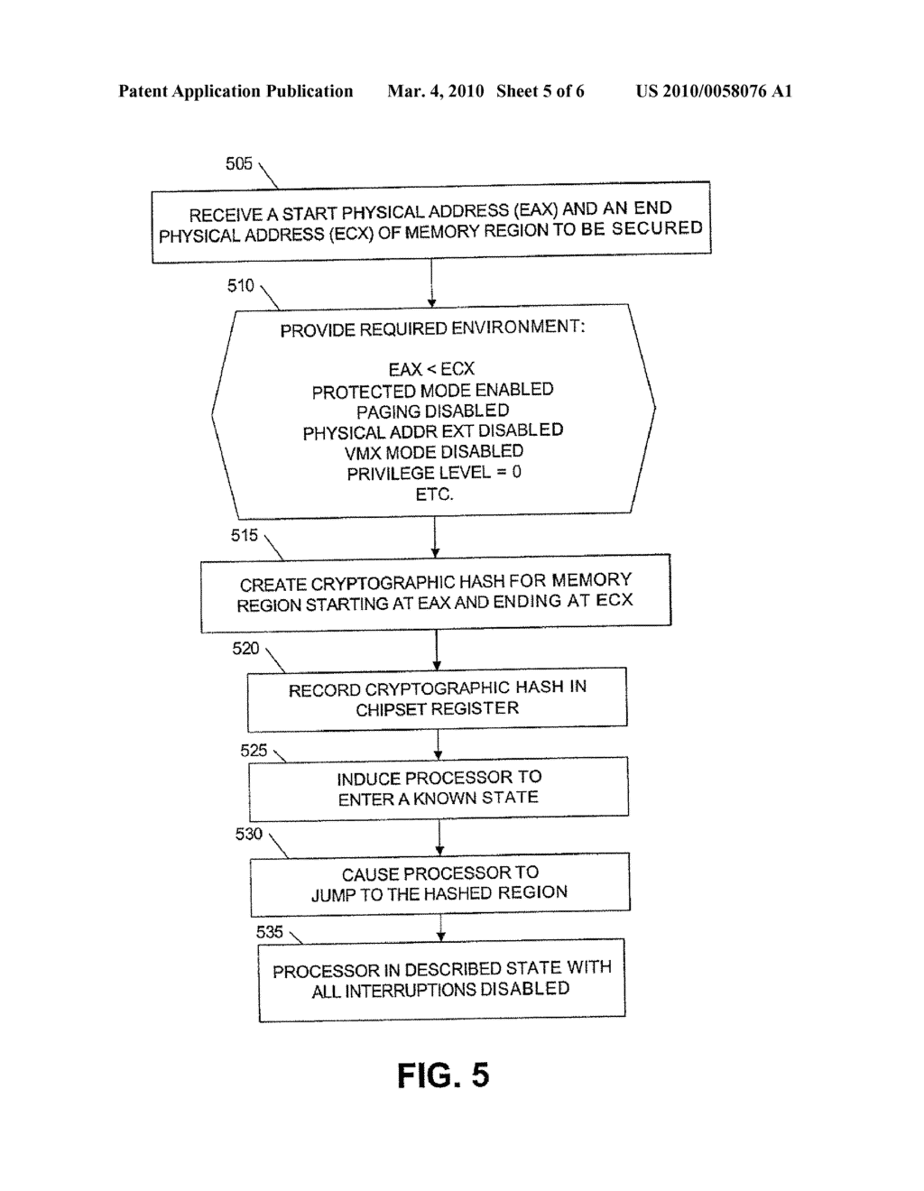METHOD AND APPARATUS FOR LOADING A TRUSTABLE OPERATING SYSTEM - diagram, schematic, and image 06