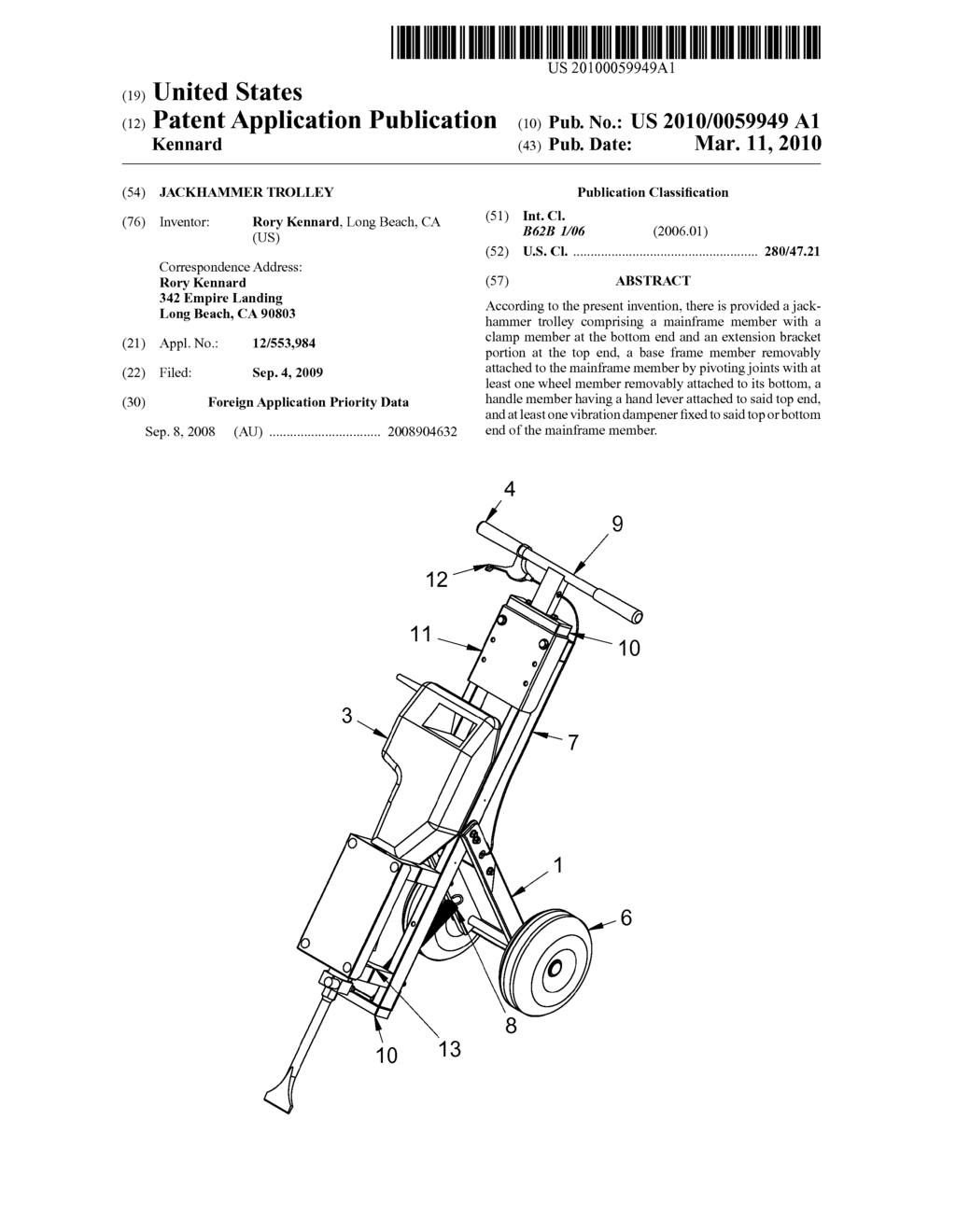 Jackhammer Trolley - diagram, schematic, and image 01 on