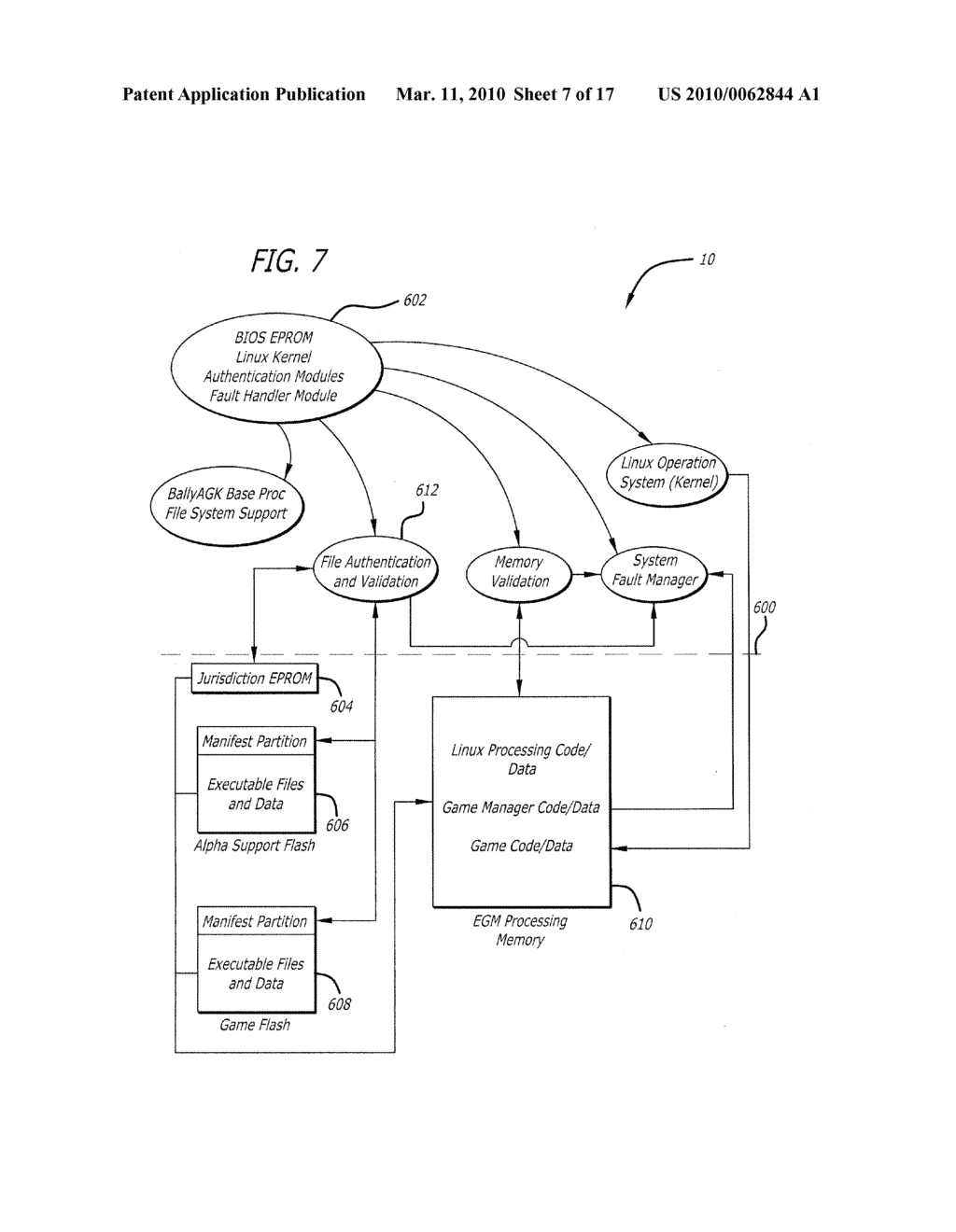 AUTHENTICATION AND VALIDATION SYSTEMS FOR GAMING DEVICES - diagram, schematic, and image 08