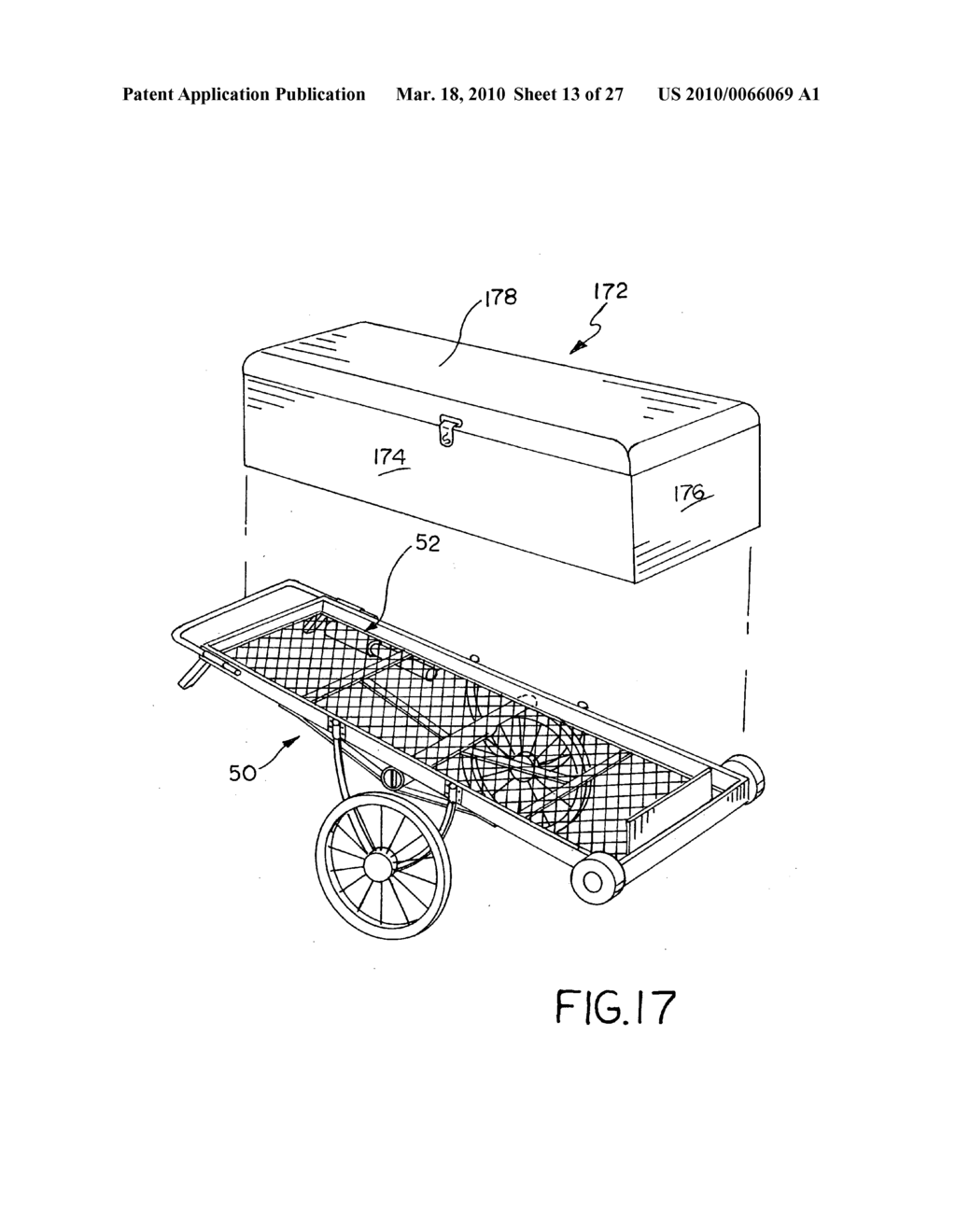 HAND CART ATTACHABLE TO A VEHICLE HITCH - diagram, schematic, and image 14