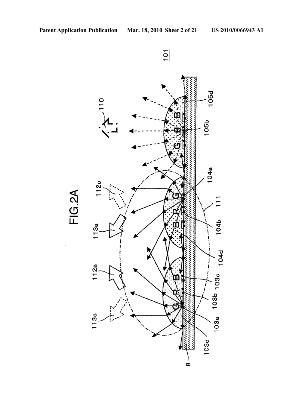 BACK LIGHT DEVICE, LIQUID CRYSTAL DISPLAY APPARATUS AND IMAGE DISPLAY APPARATUS USING THE SAME - diagram, schematic, and image 03