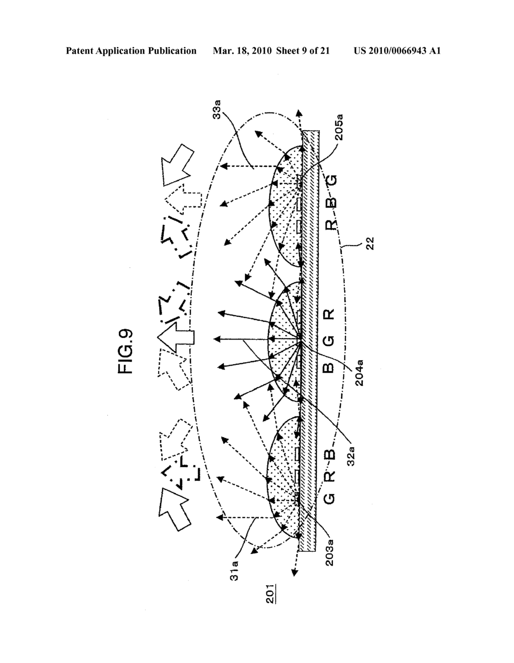 BACK LIGHT DEVICE, LIQUID CRYSTAL DISPLAY APPARATUS AND IMAGE DISPLAY APPARATUS USING THE SAME - diagram, schematic, and image 10