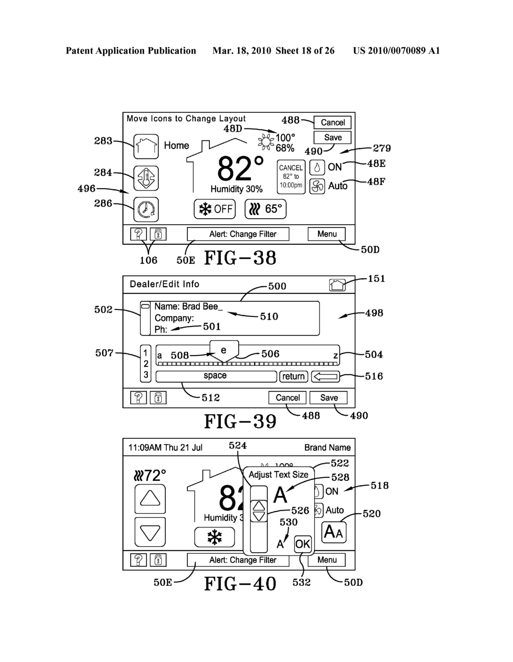 HVAC CONTROLLER USER INTERFACES - diagram, schematic, and image 19