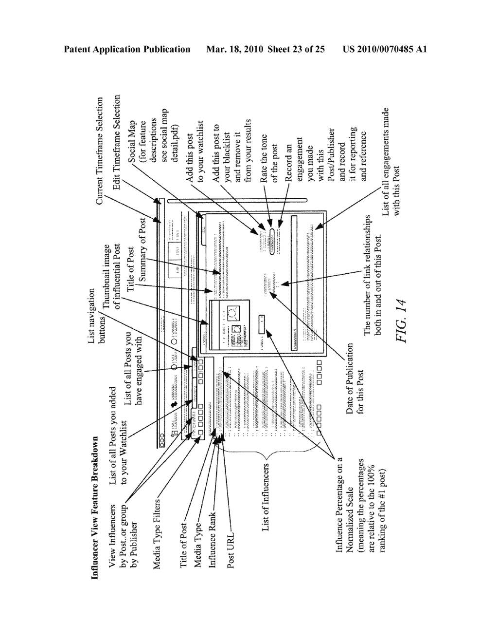 Social Analytics System and Method For Analyzing Conversations in Social Media - diagram, schematic, and image 24
