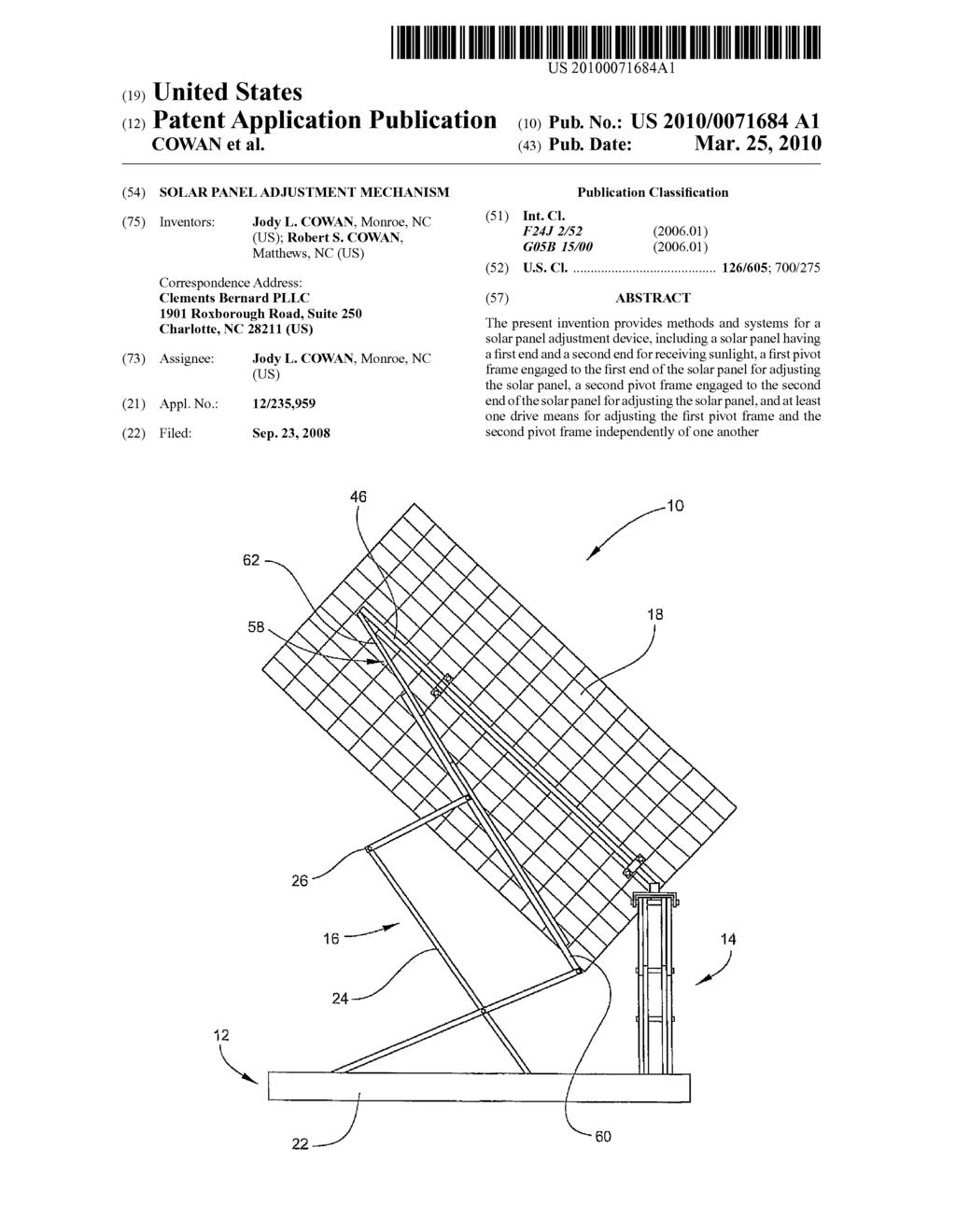 Solar Panel Adjustment Mechanism Diagram Schematic And Image 01