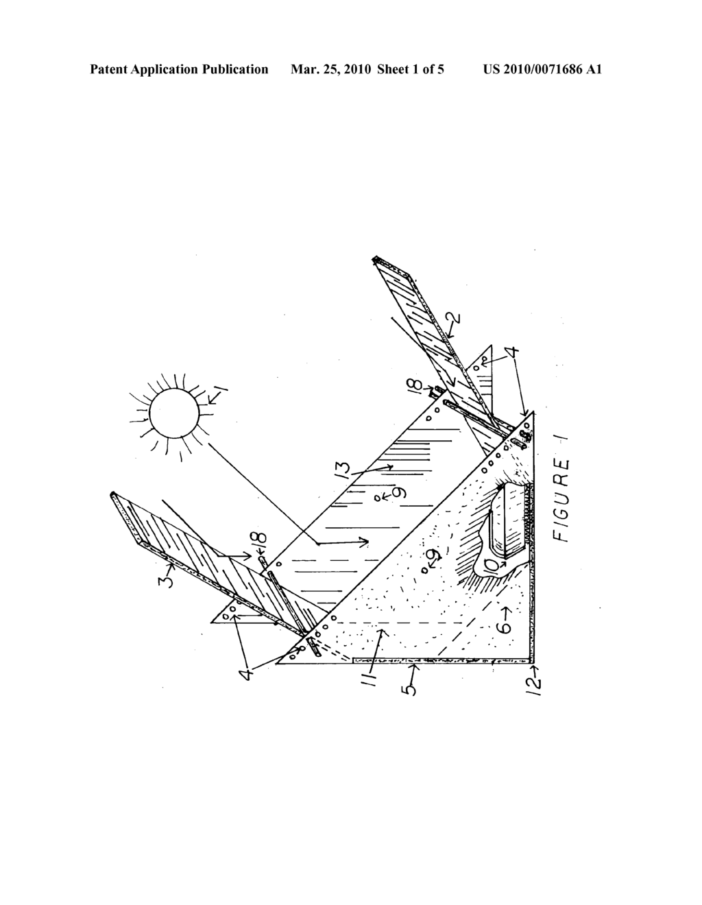 Wedge shape solar cooker - diagram, schematic, and image 02