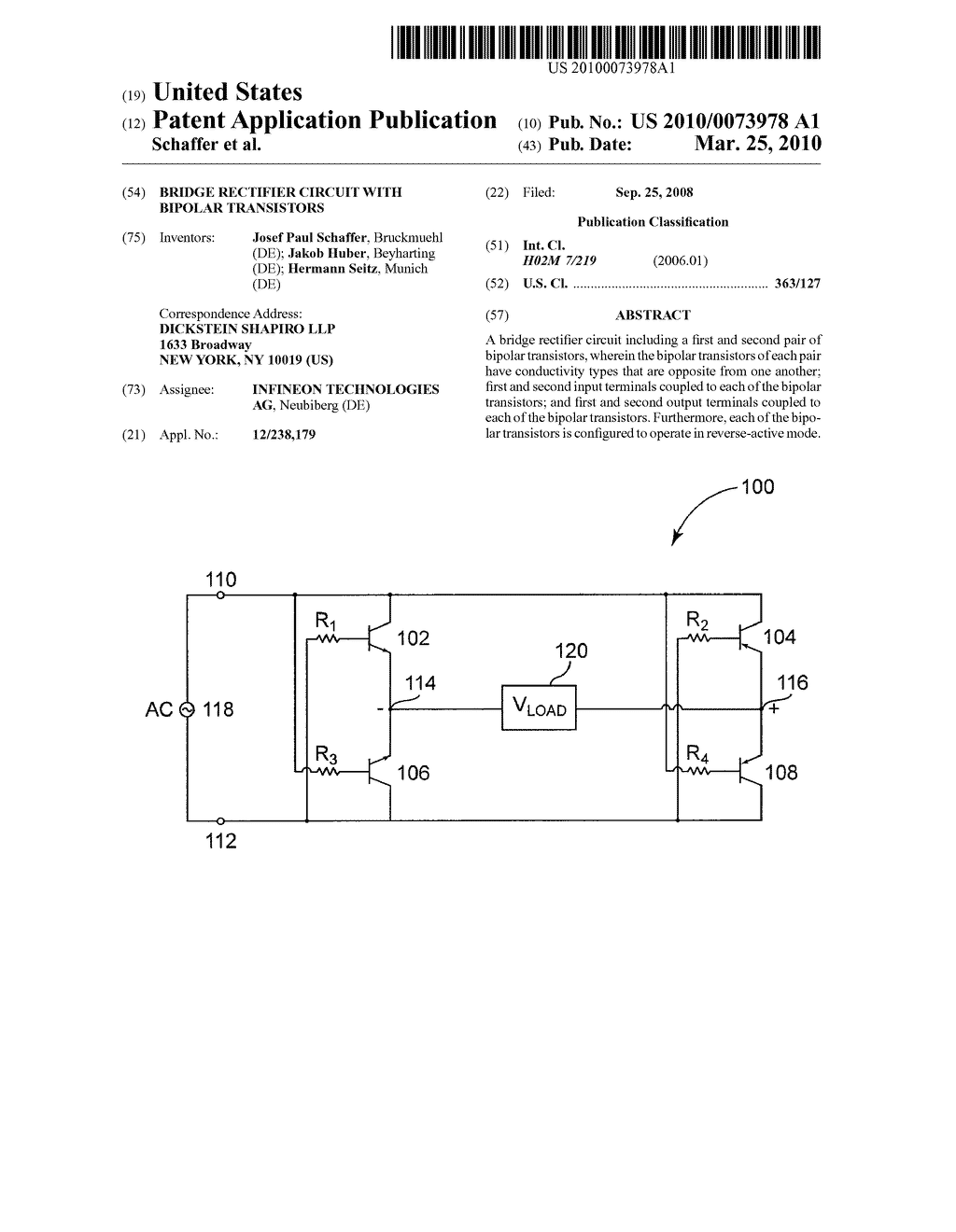 Bridge Rectifier Circuit With Bipolar Transistors Diagram Schematic And Image 01