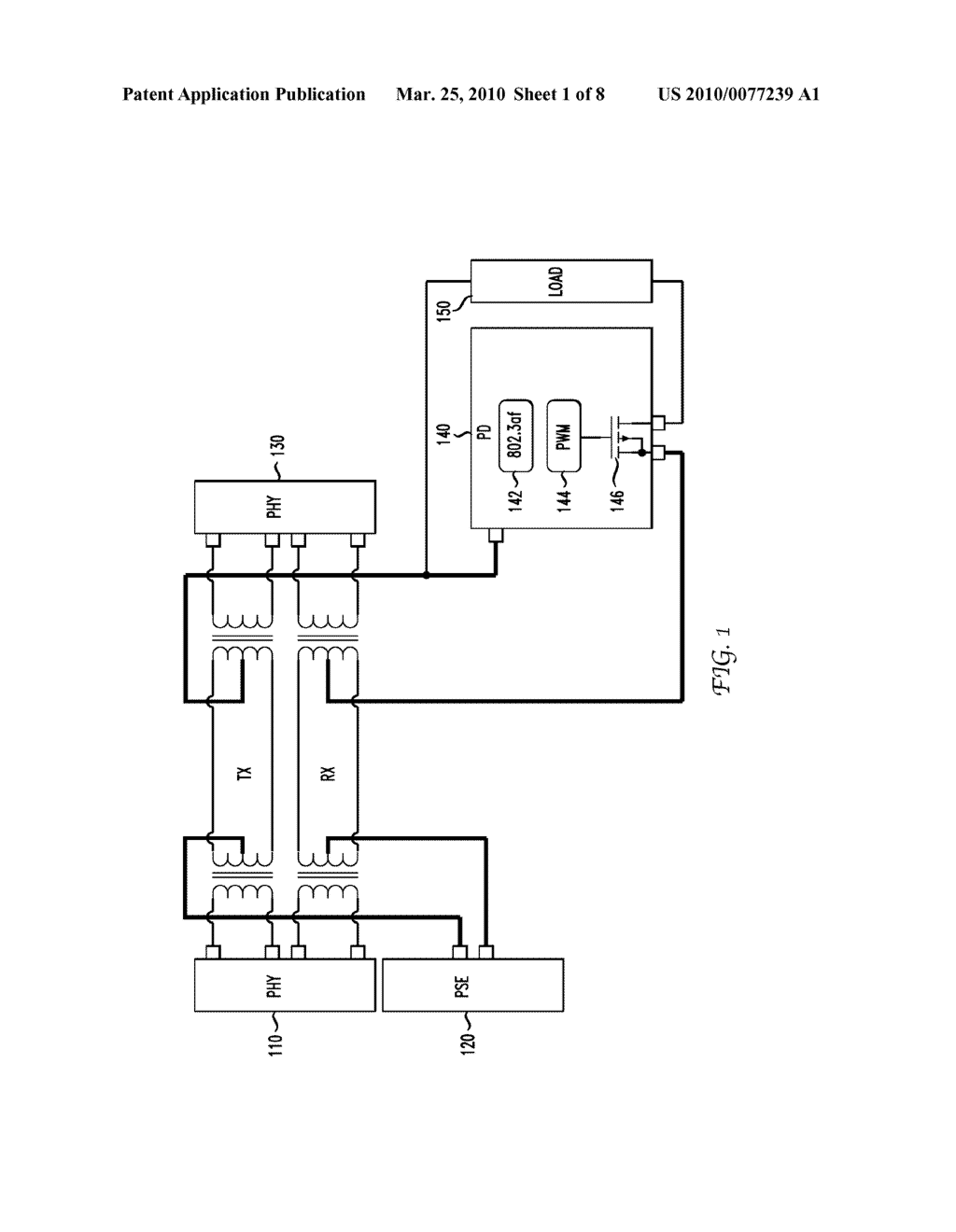 System and Method for Controlling Power Delivered to a Powered Device Based on Cable Characteristics - diagram, schematic, and image 02