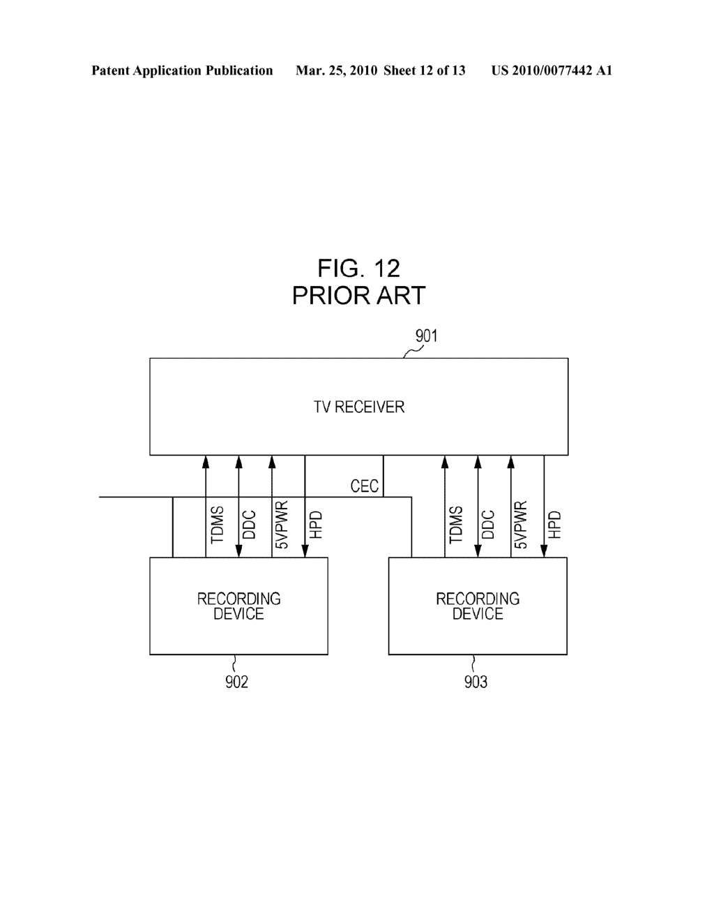 COMMUNICATION CONTROL DEVICE AND COMMUNICATION CONTROL METHOD IN AUDIO VISUAL DEVICE SYSTEM, AND TELEVISION RECEIVER - diagram, schematic, and image 13