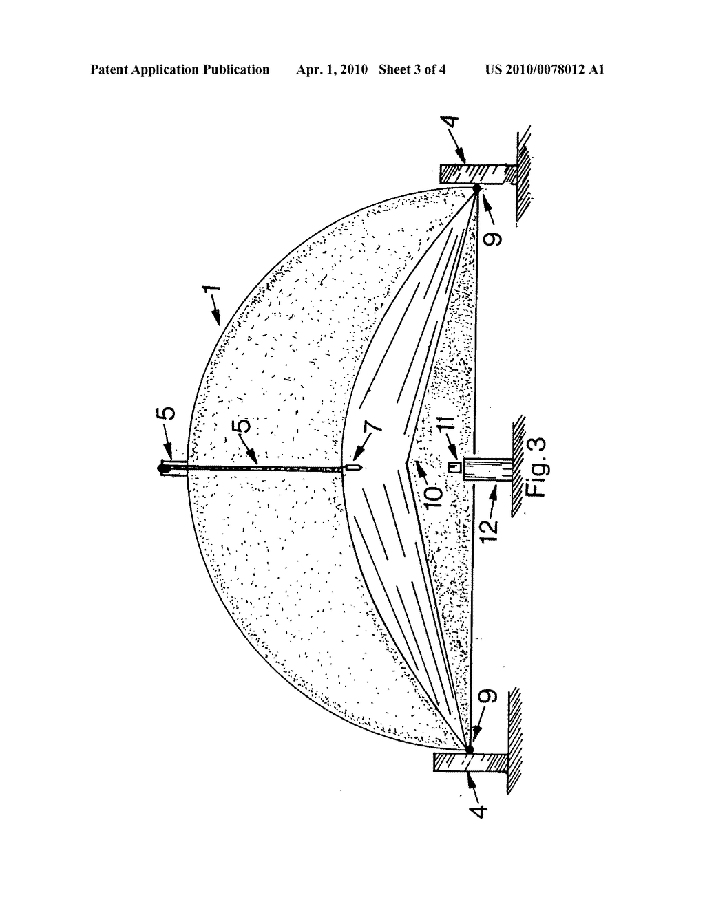 Half parabolic dish reflector with planar reflector solar smelter - diagram, schematic, and image 04