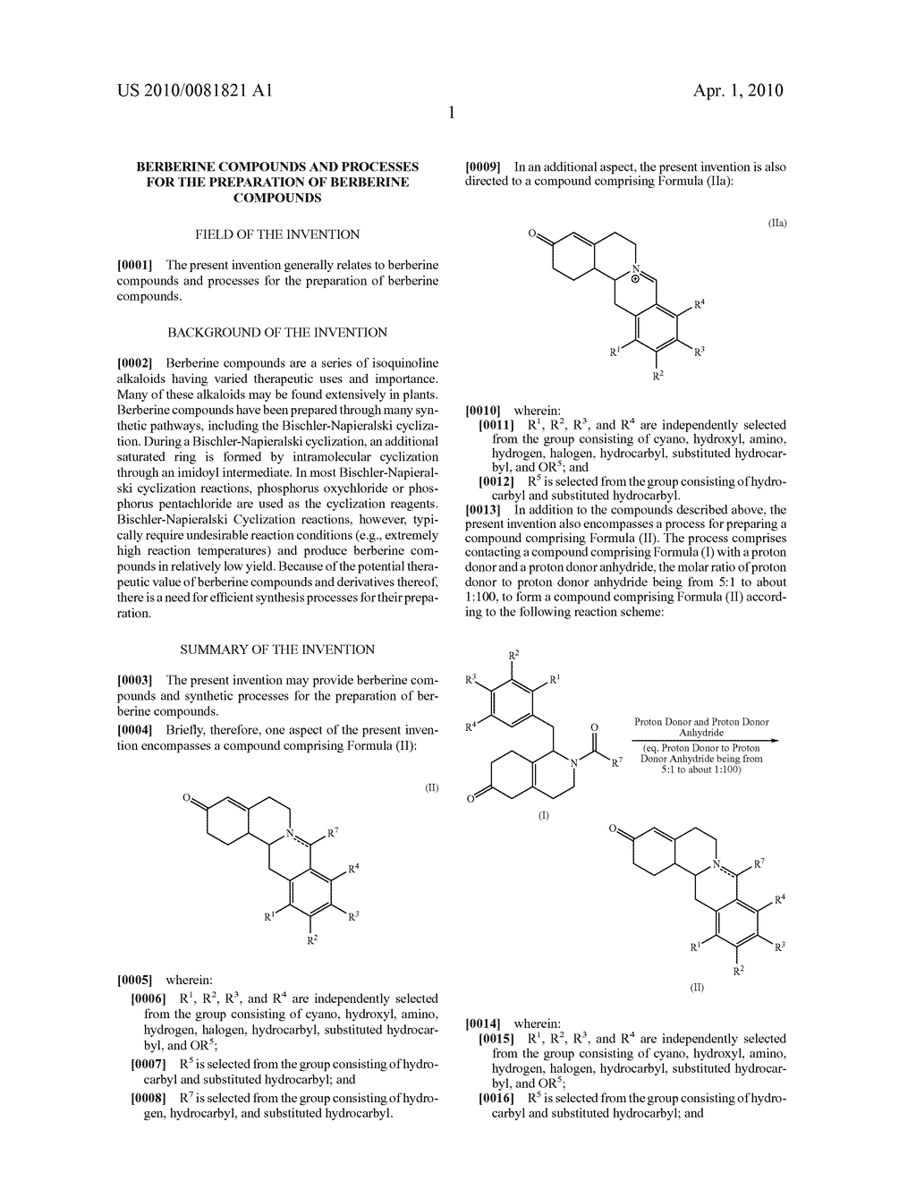Berberine compounds and processes for the preparation of berberine compounds - diagram, schematic, and image 02