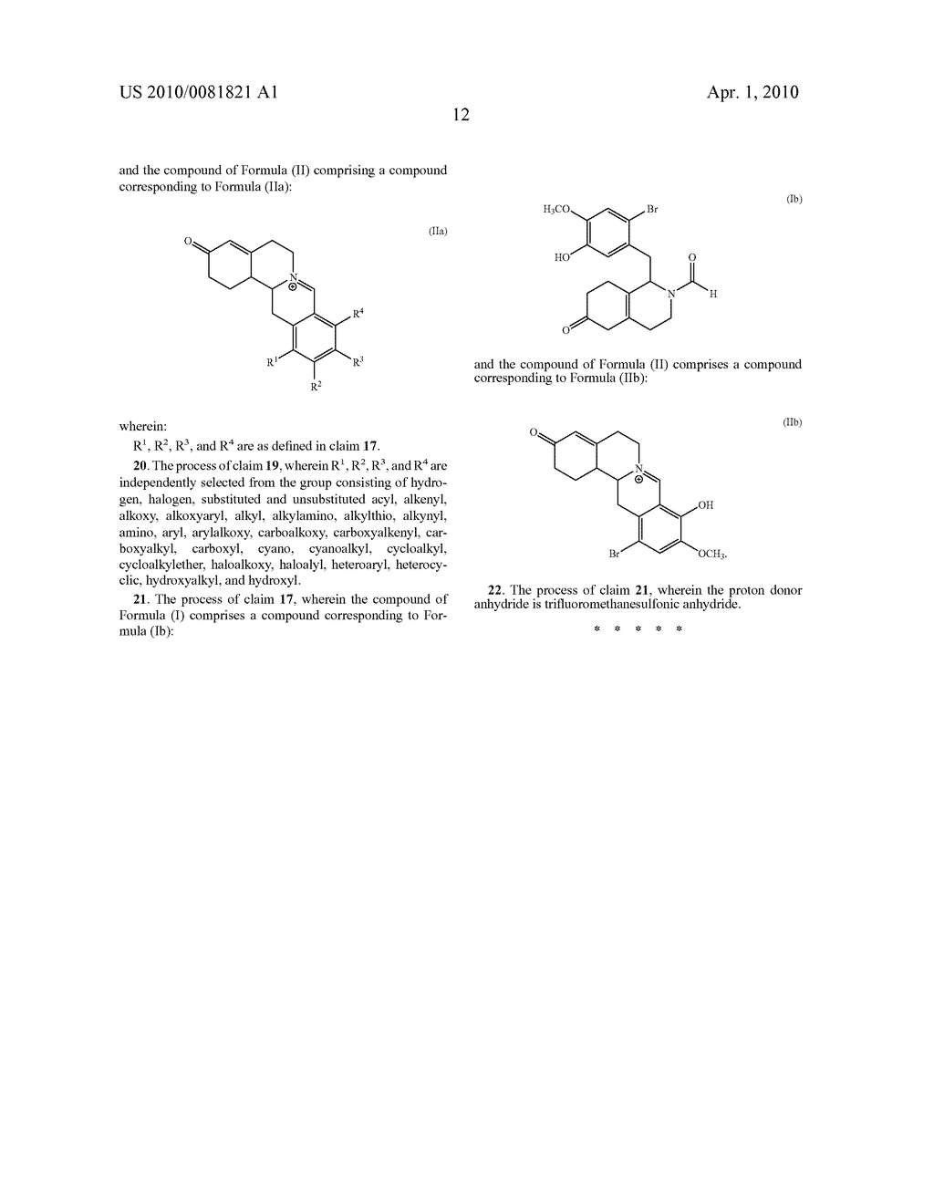 Berberine compounds and processes for the preparation of berberine compounds - diagram, schematic, and image 13