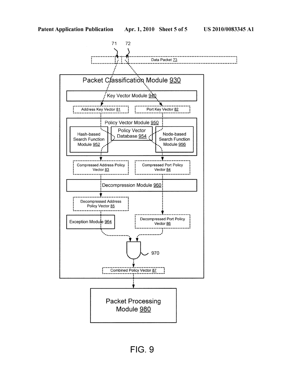 METHODS AND APPARATUS RELATED TO PACKET CLASSIFICATION ASSOCIATED WITH A MULTI-STAGE SWITCH - diagram, schematic, and image 06