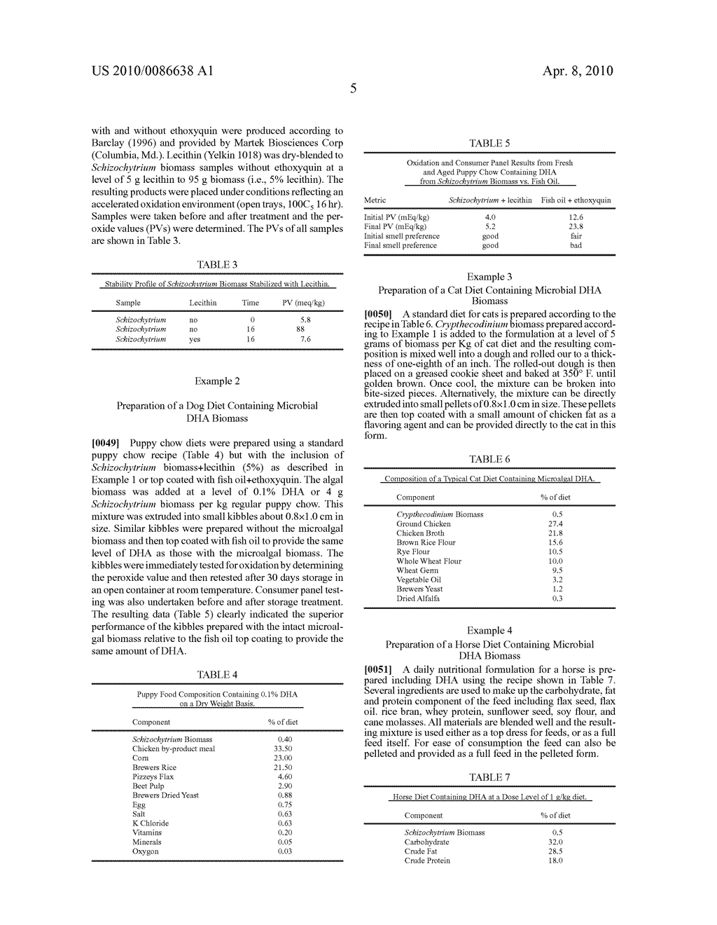 FEED FORMULATIONS CONTAINING DOCOSAHEXAENOIC ACID - diagram, schematic, and image 10