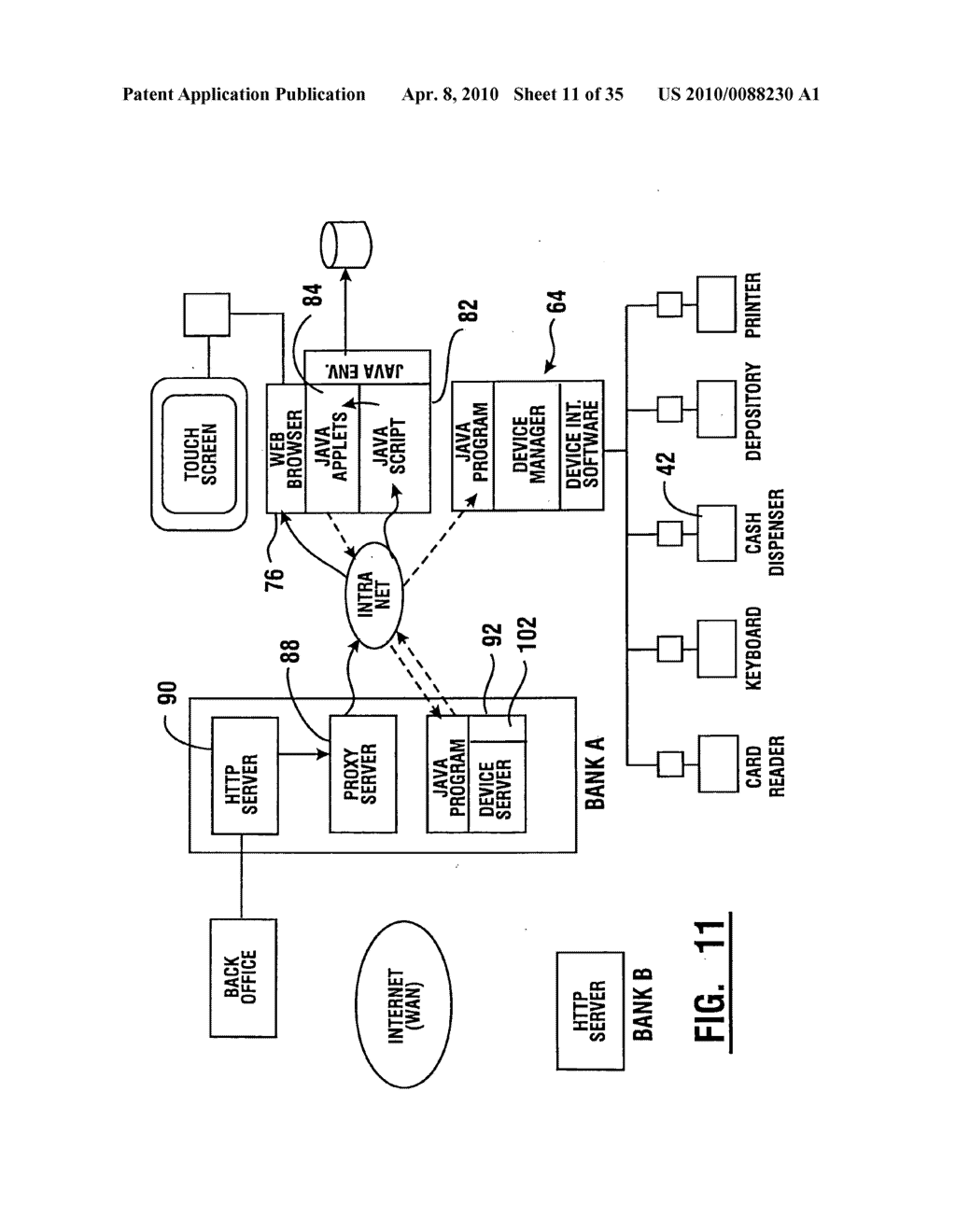 Method of authorizing automated banking machine use responsive to user data read from data bearing records - diagram, schematic, and image 12