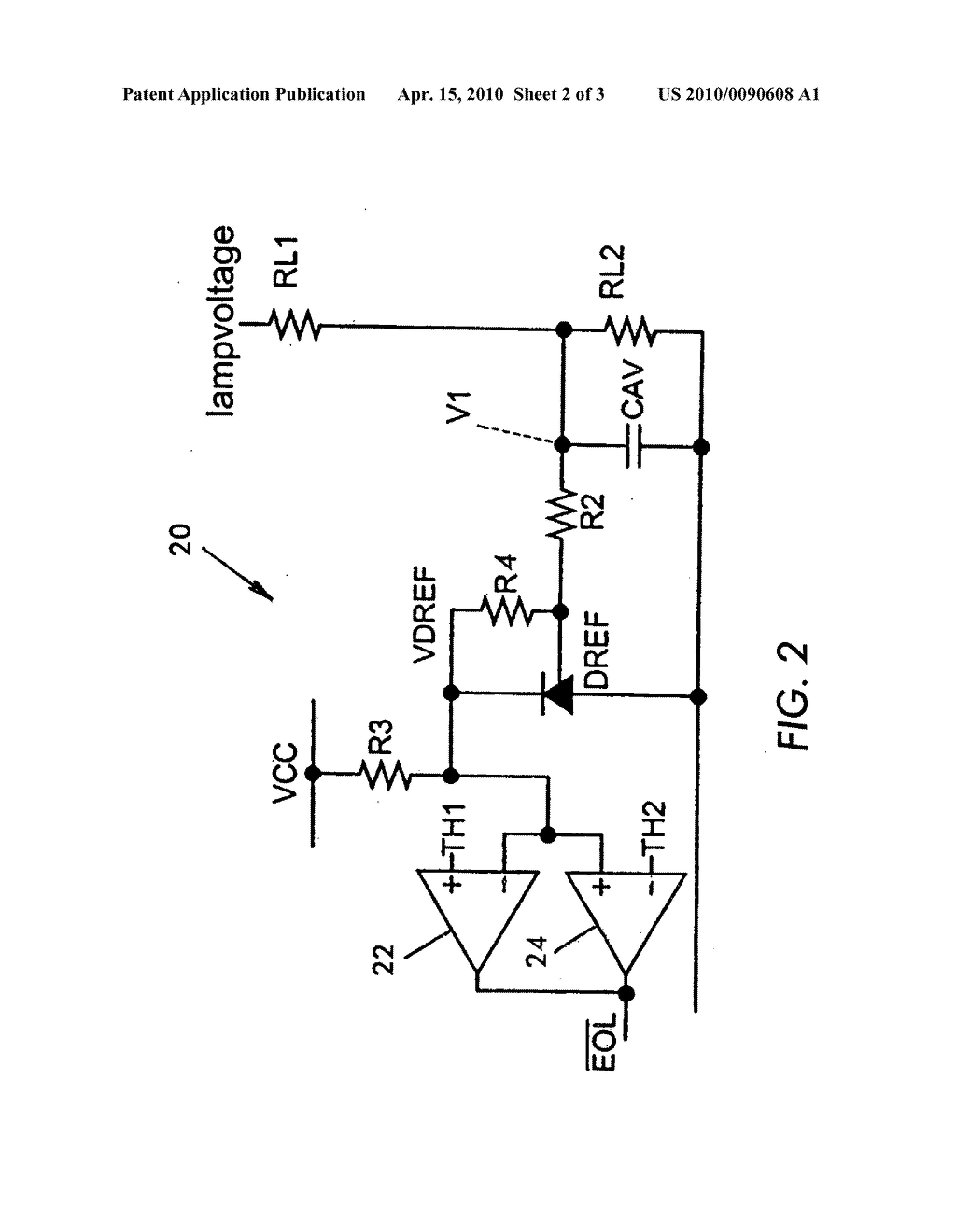 END-OF-LAMP LIFE DETECTION CIRCUIT - diagram, schematic, and ... on