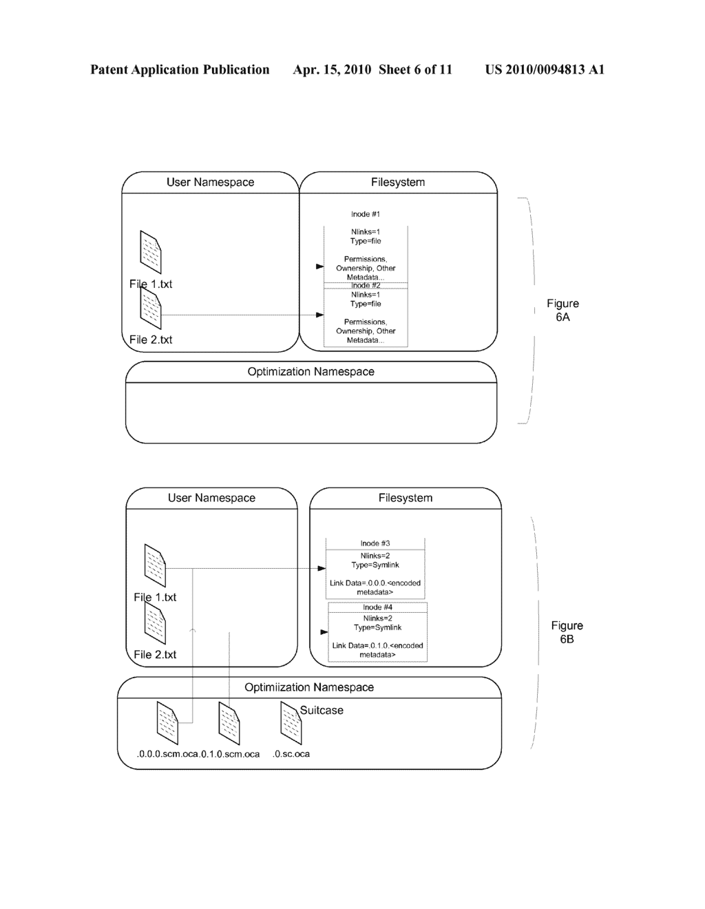 REPRESENTING AND STORING AN OPTIMIZED FILE SYSTEM USING A SYSTEM OF SYMLINKS, HARDLINKS AND FILE ARCHIVES - diagram, schematic, and image 07