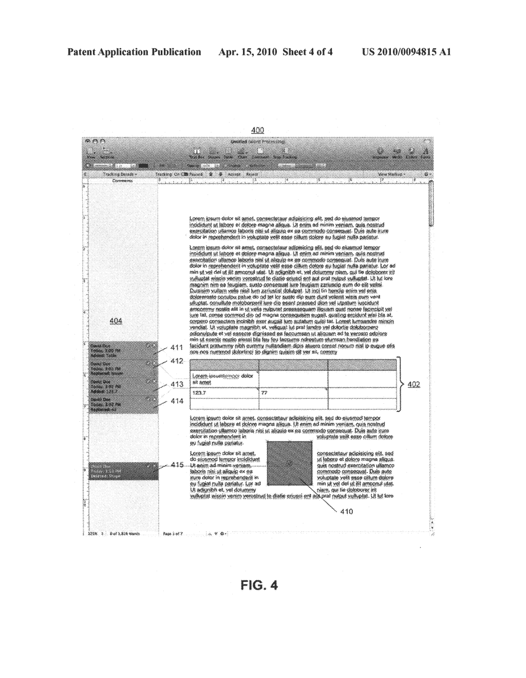 Method and apparatus for performing type-aware change tracking in a document - diagram, schematic, and image 05