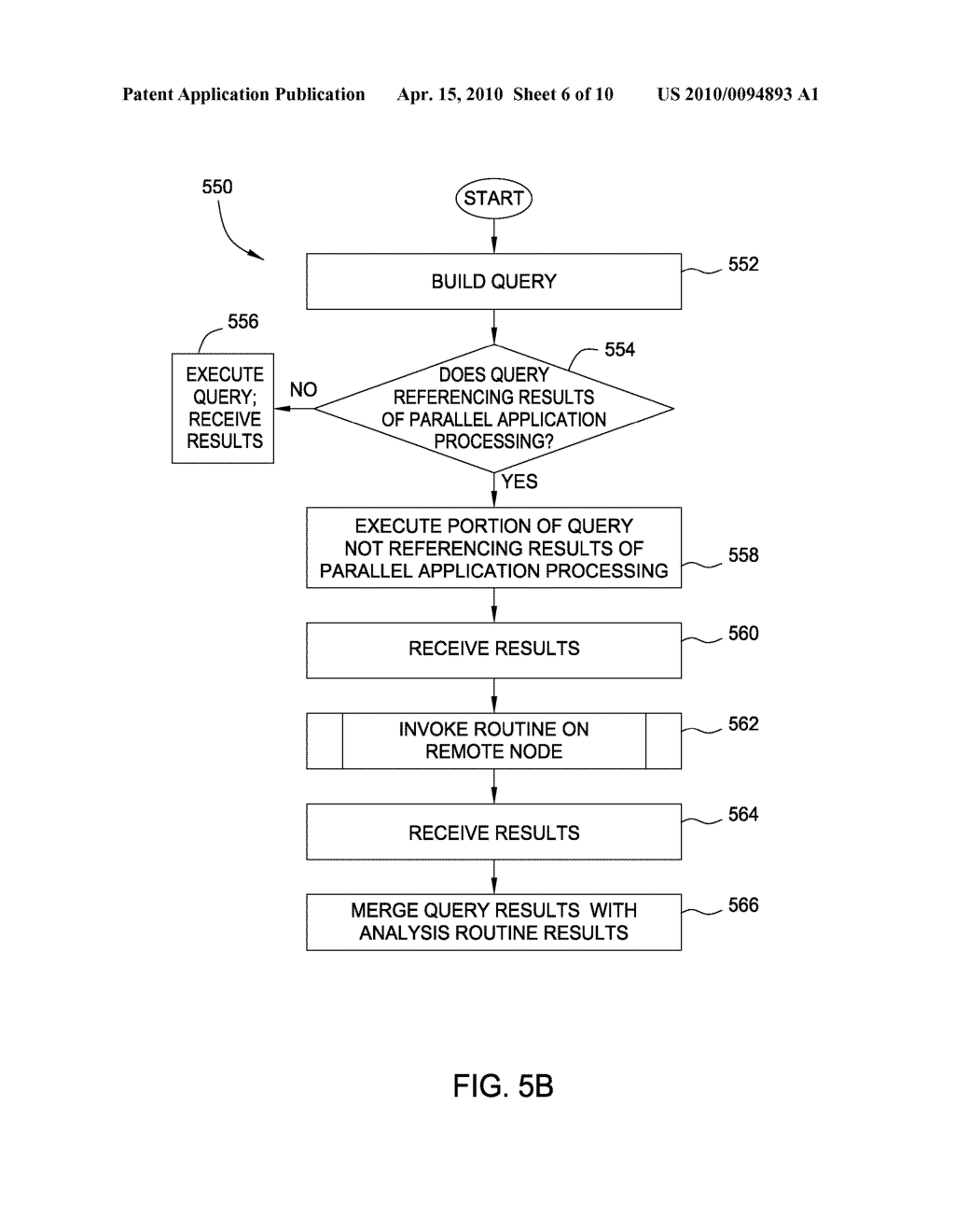 QUERY INTERFACE CONFIGURED TO INVOKE AN ANALYSIS ROUTINE ON A PARALLEL COMPUTING SYSTEM AS PART OF DATABASE QUERY PROCESSING - diagram, schematic, and image 07