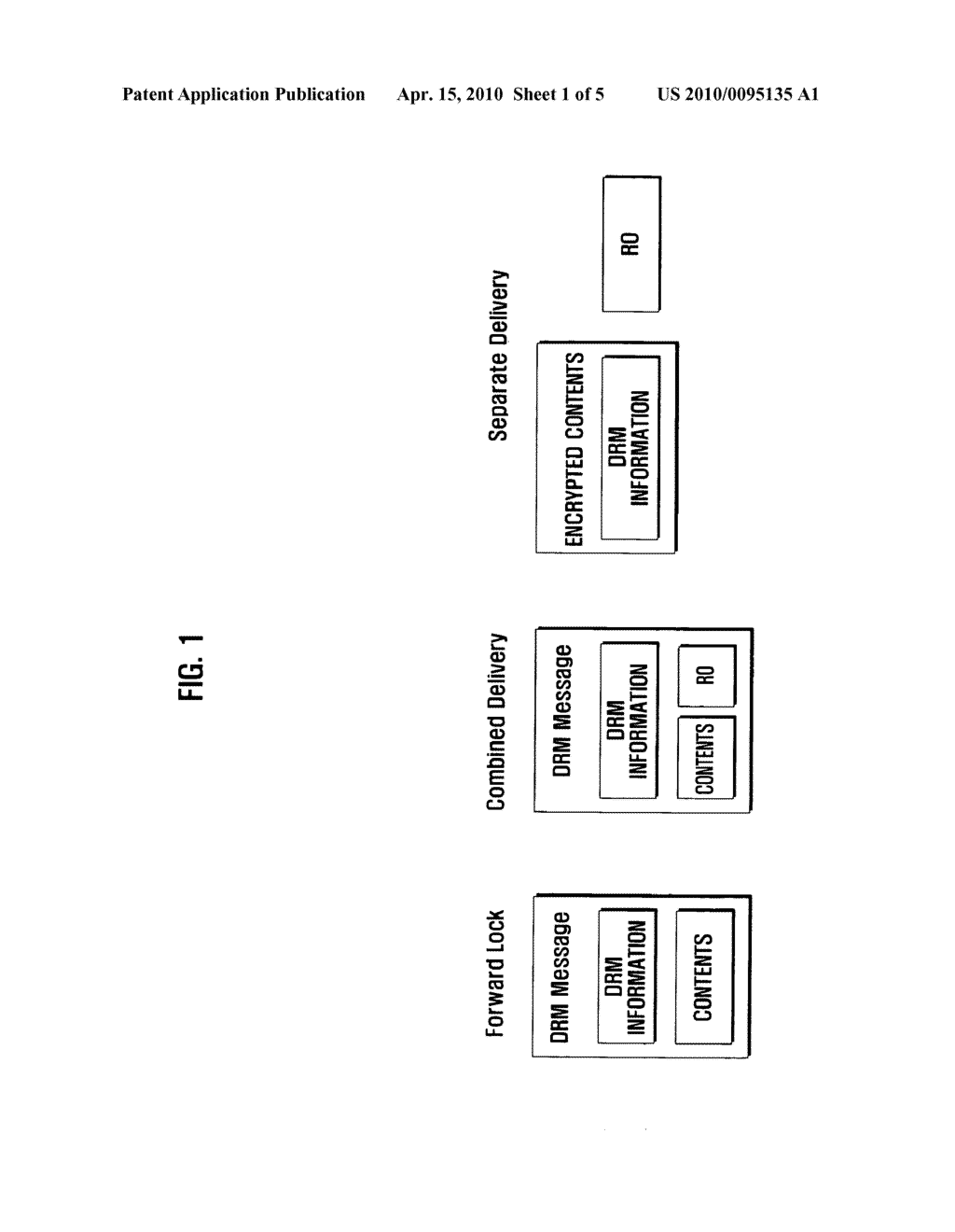 Method and system for processing forward- locked DRM contents, and portable device adapted thereto - diagram, schematic, and image 02