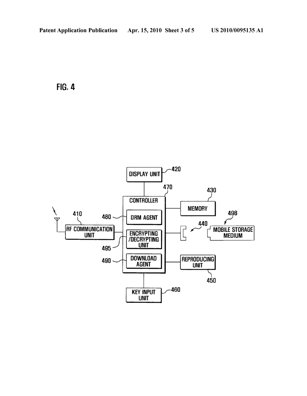 Method and system for processing forward- locked DRM contents, and portable device adapted thereto - diagram, schematic, and image 04