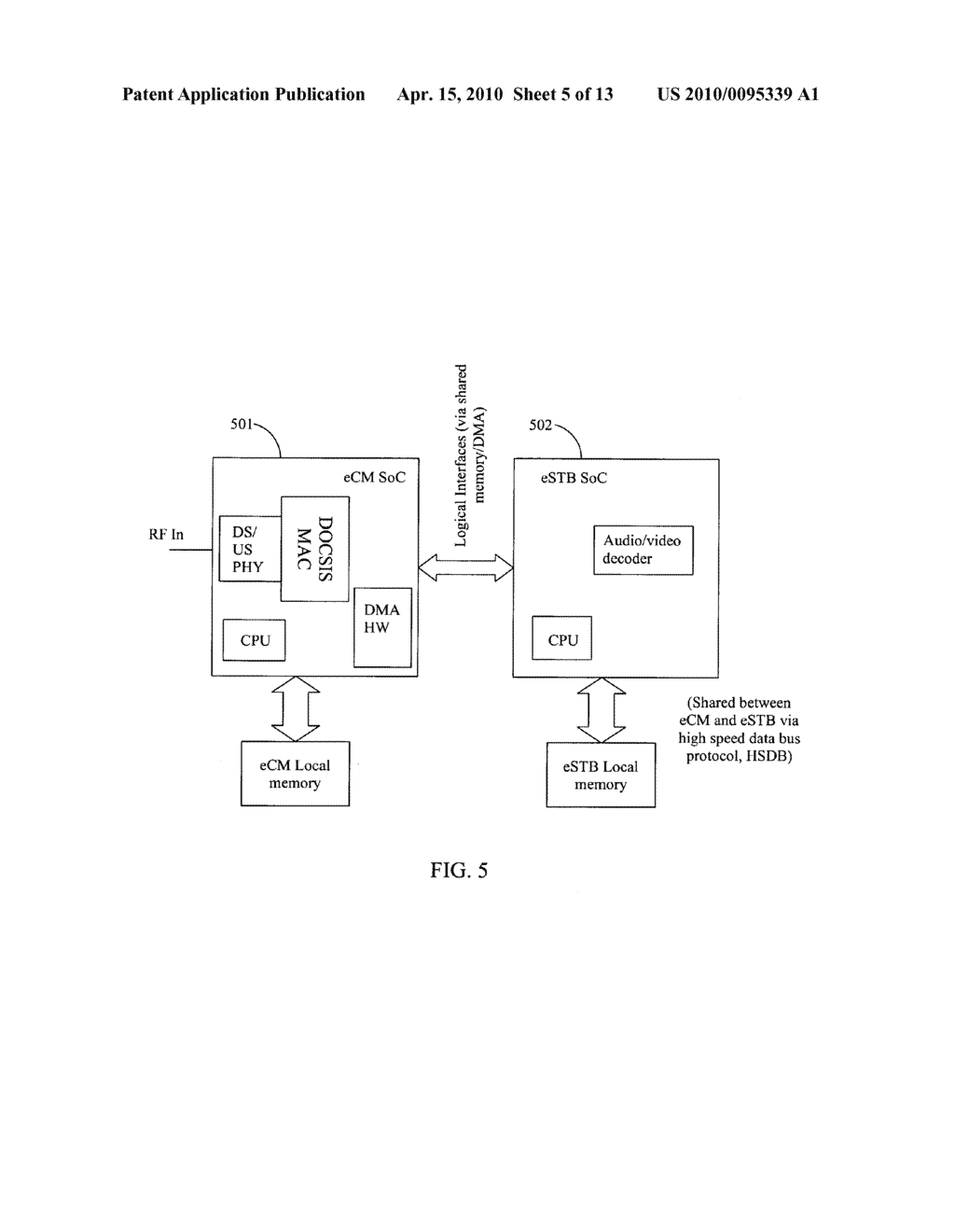 Method And Apparatus For Designing A Communication Mechanism Between Cable Modem Diagram Embedded Set Top Box Schematic Image 06