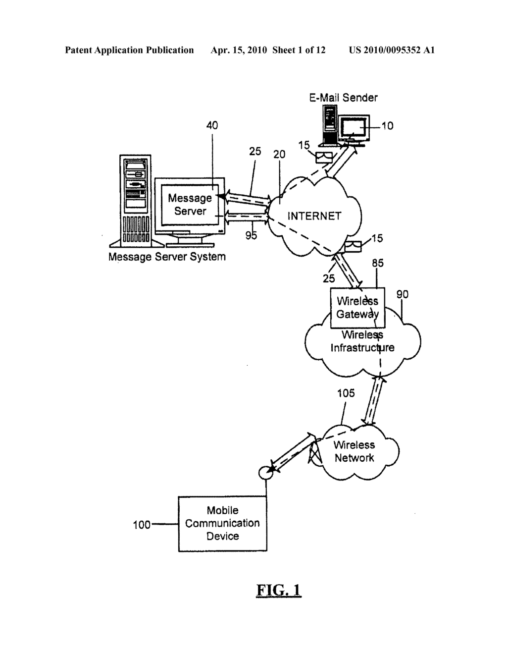 Message Service Indication System and Method - diagram, schematic, and image 02