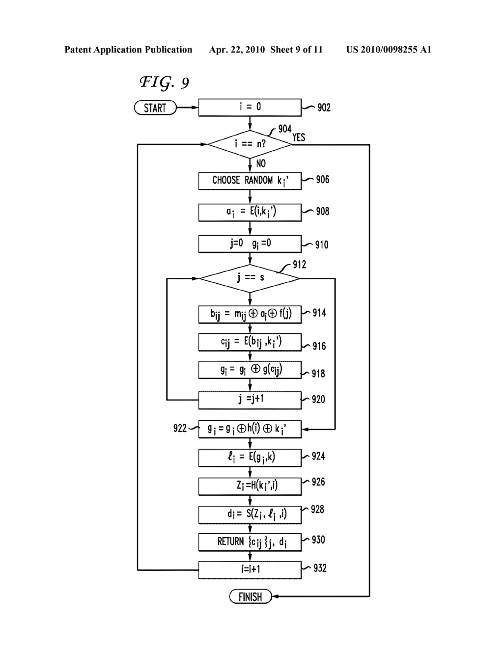 SYSTEM AND METHOD FOR A DERIVATION FUNCTION FOR KEY PER PAGE - diagram, schematic, and image 10