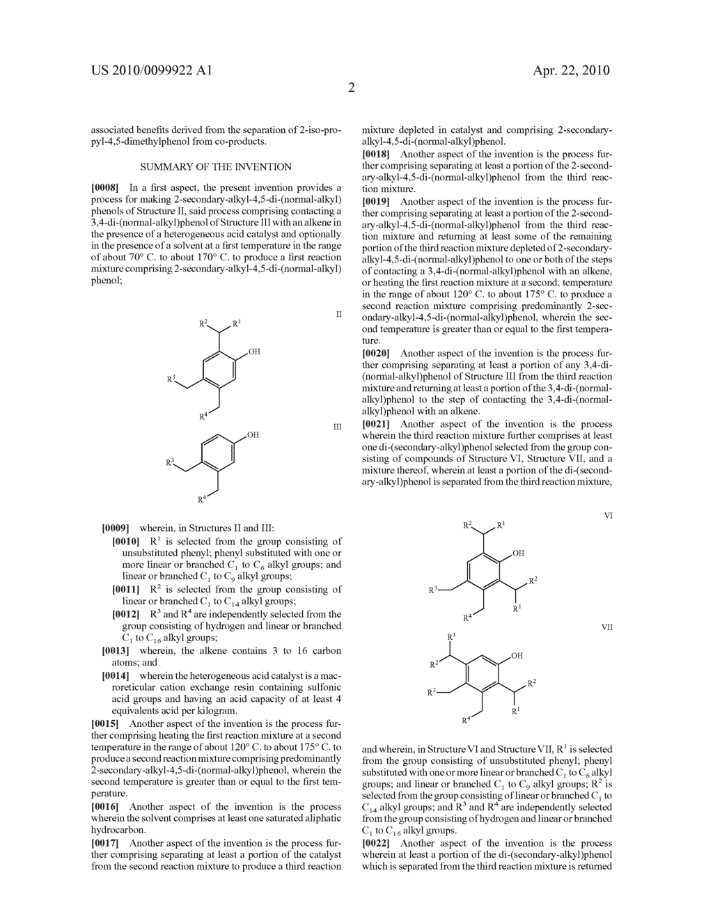 PROCESS FOR MAKING 2-SECONDARY-ALKYL-4,5-DI-(NORMAL-ALKYL)PHENOLS - diagram, schematic, and image 06