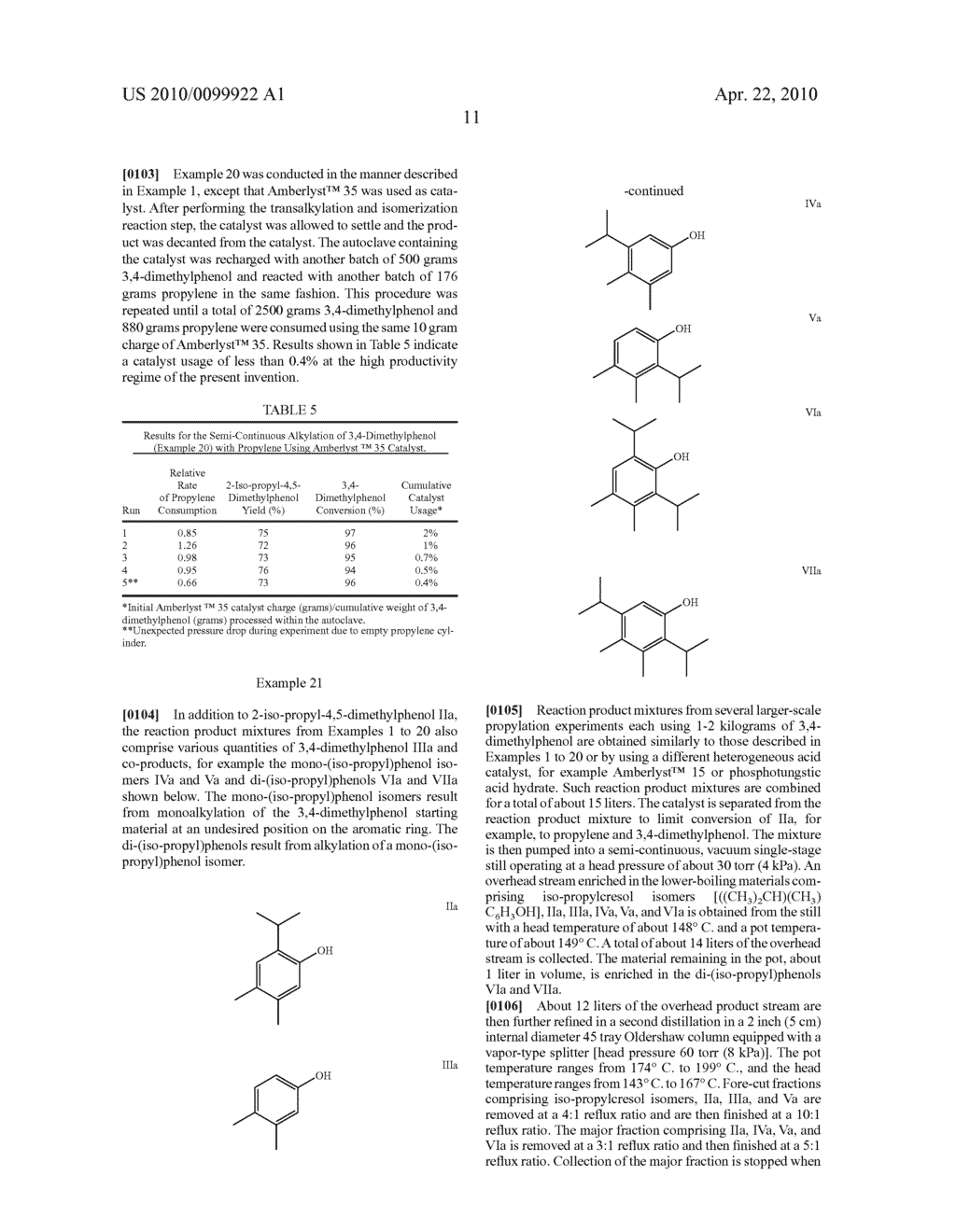 PROCESS FOR MAKING 2-SECONDARY-ALKYL-4,5-DI-(NORMAL-ALKYL)PHENOLS - diagram, schematic, and image 15