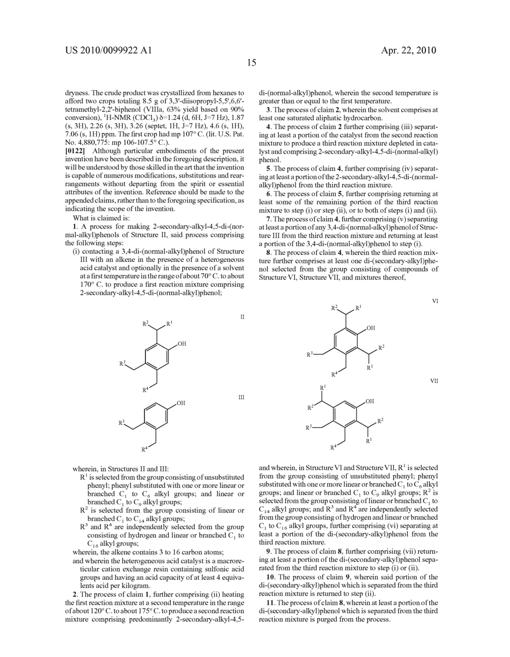 PROCESS FOR MAKING 2-SECONDARY-ALKYL-4,5-DI-(NORMAL-ALKYL)PHENOLS - diagram, schematic, and image 19