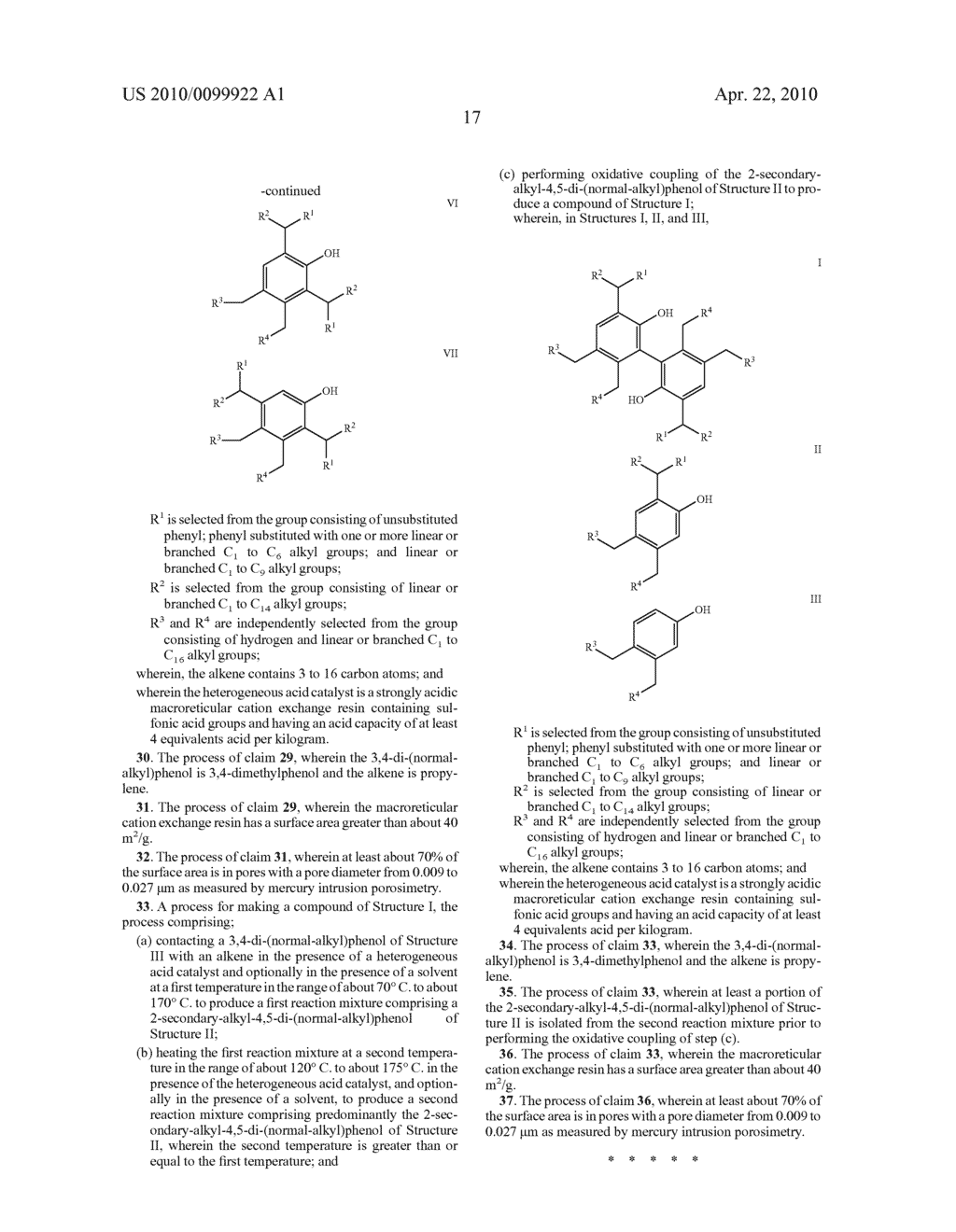 PROCESS FOR MAKING 2-SECONDARY-ALKYL-4,5-DI-(NORMAL-ALKYL)PHENOLS - diagram, schematic, and image 21