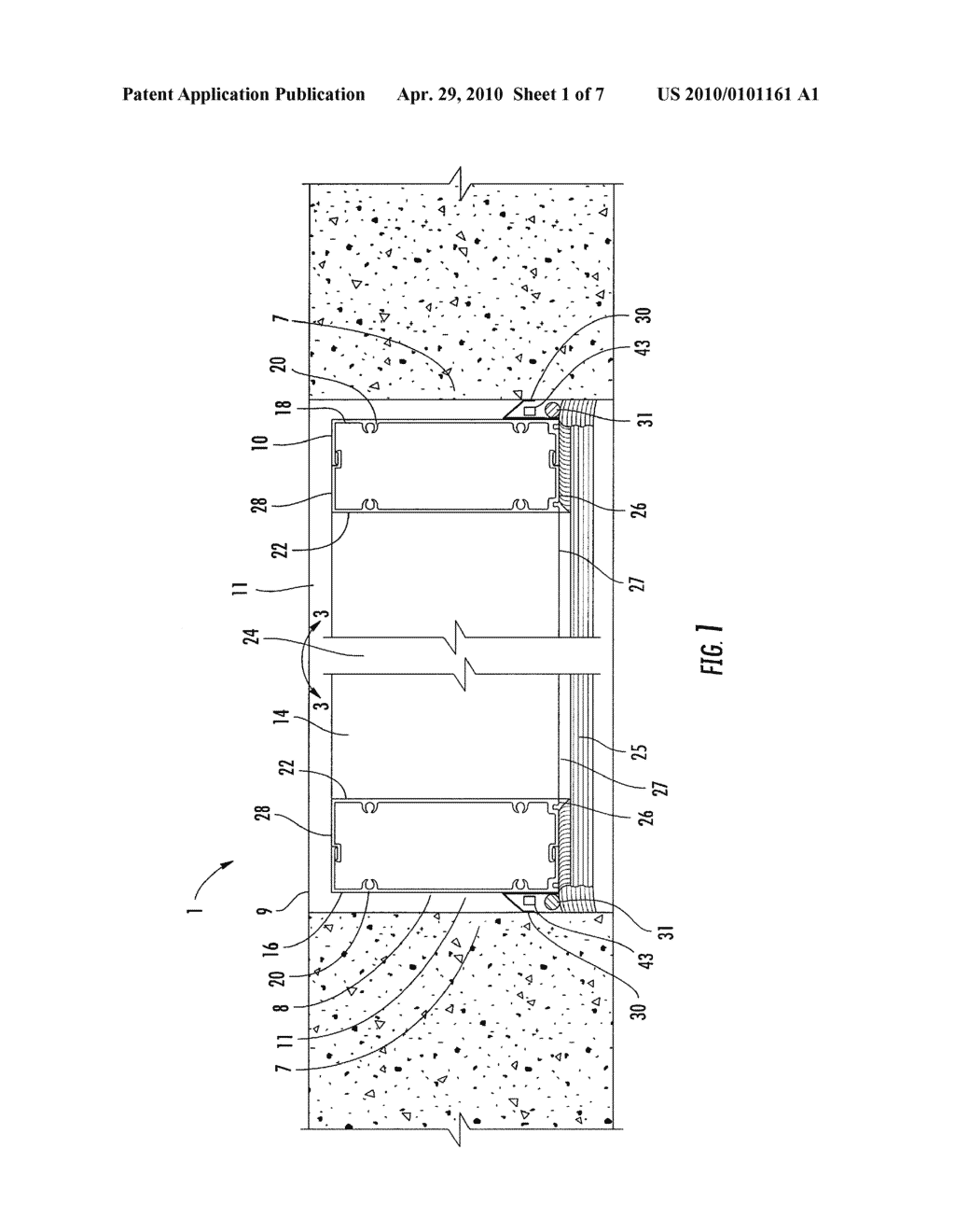 Window structure with expansion member for inhibiting flood waters - diagram, schematic, and image 02