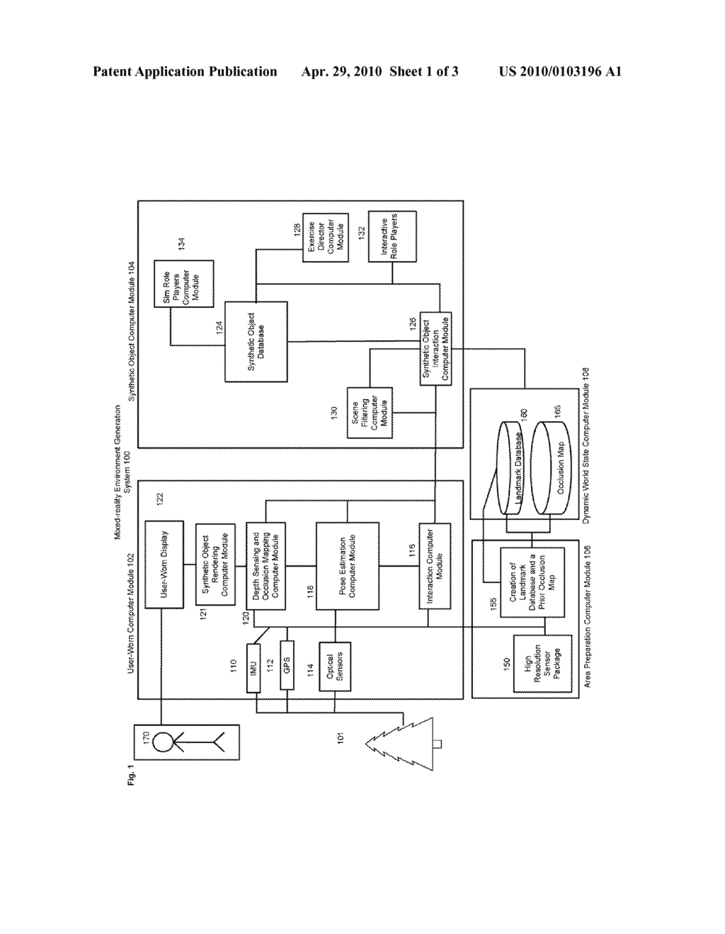 SYSTEM AND METHOD FOR GENERATING A MIXED REALITY ENVIRONMENT - diagram, schematic, and image 02