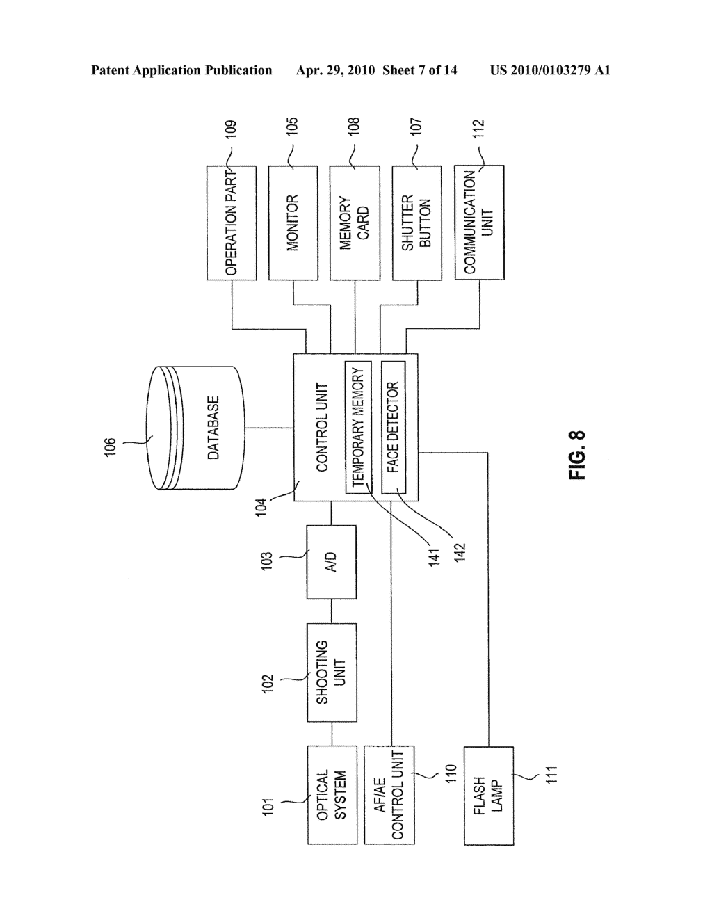 FACE DETECTION DEVICE, DIGITAL CAMERA, AND COMPUTER READABLE STORAGE MEDIUM WHICH STORES A FACE DETECTION PROGRAM - diagram, schematic, and image 08