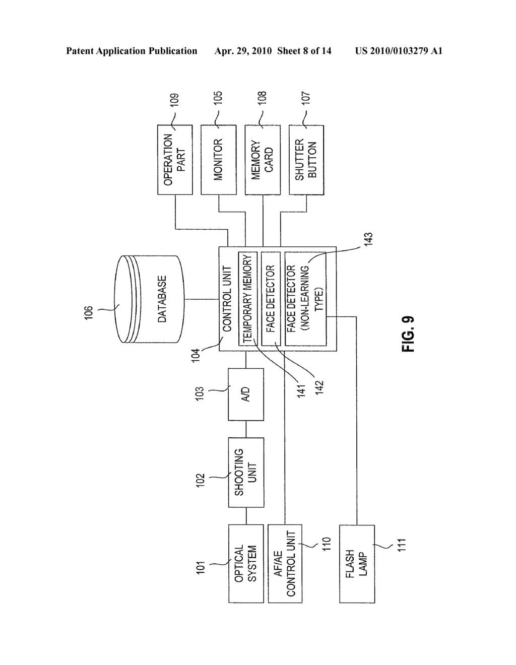 FACE DETECTION DEVICE, DIGITAL CAMERA, AND COMPUTER READABLE STORAGE MEDIUM WHICH STORES A FACE DETECTION PROGRAM - diagram, schematic, and image 09