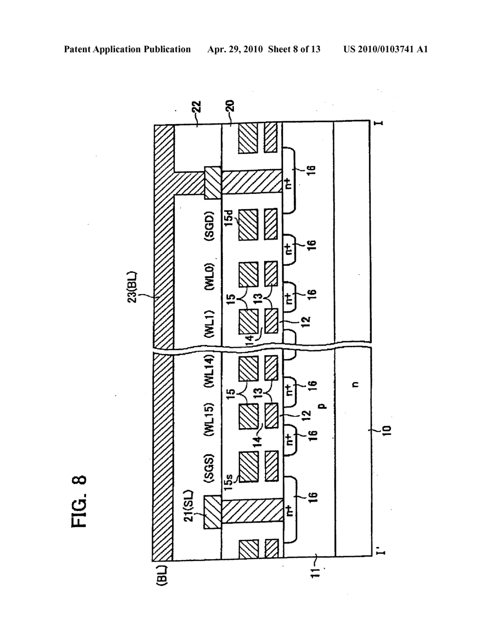 NONVOLATILE SEMICONDUCTOR MEMORY DEVICE INCLUDING PLURAL MEMORY CELLS AND A DUMMY CELL COUPLED TO AN END OF A MEMORY CELL - diagram, schematic, and image 09