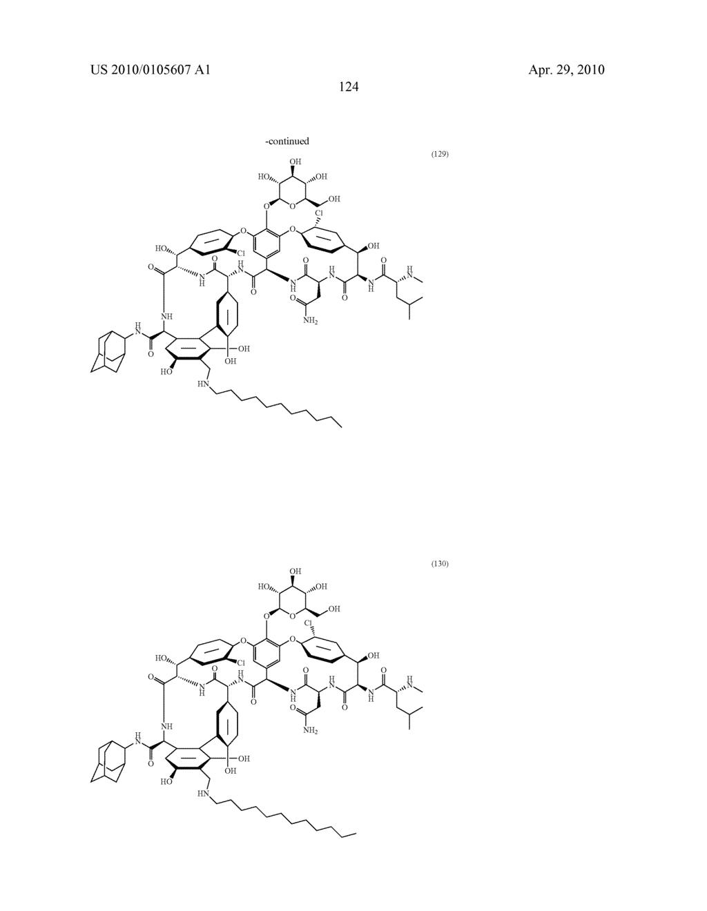 NOVEL SEMI-SYNTHETIC GLYCOPEPTIDES AS ANTIBACTERIAL AGENTS - diagram, schematic, and image 124
