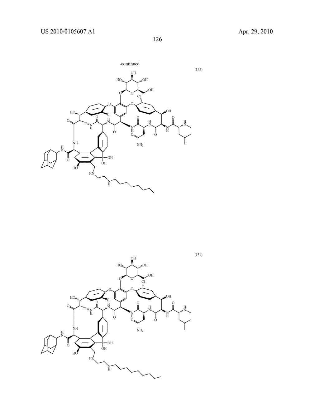 NOVEL SEMI-SYNTHETIC GLYCOPEPTIDES AS ANTIBACTERIAL AGENTS - diagram, schematic, and image 126