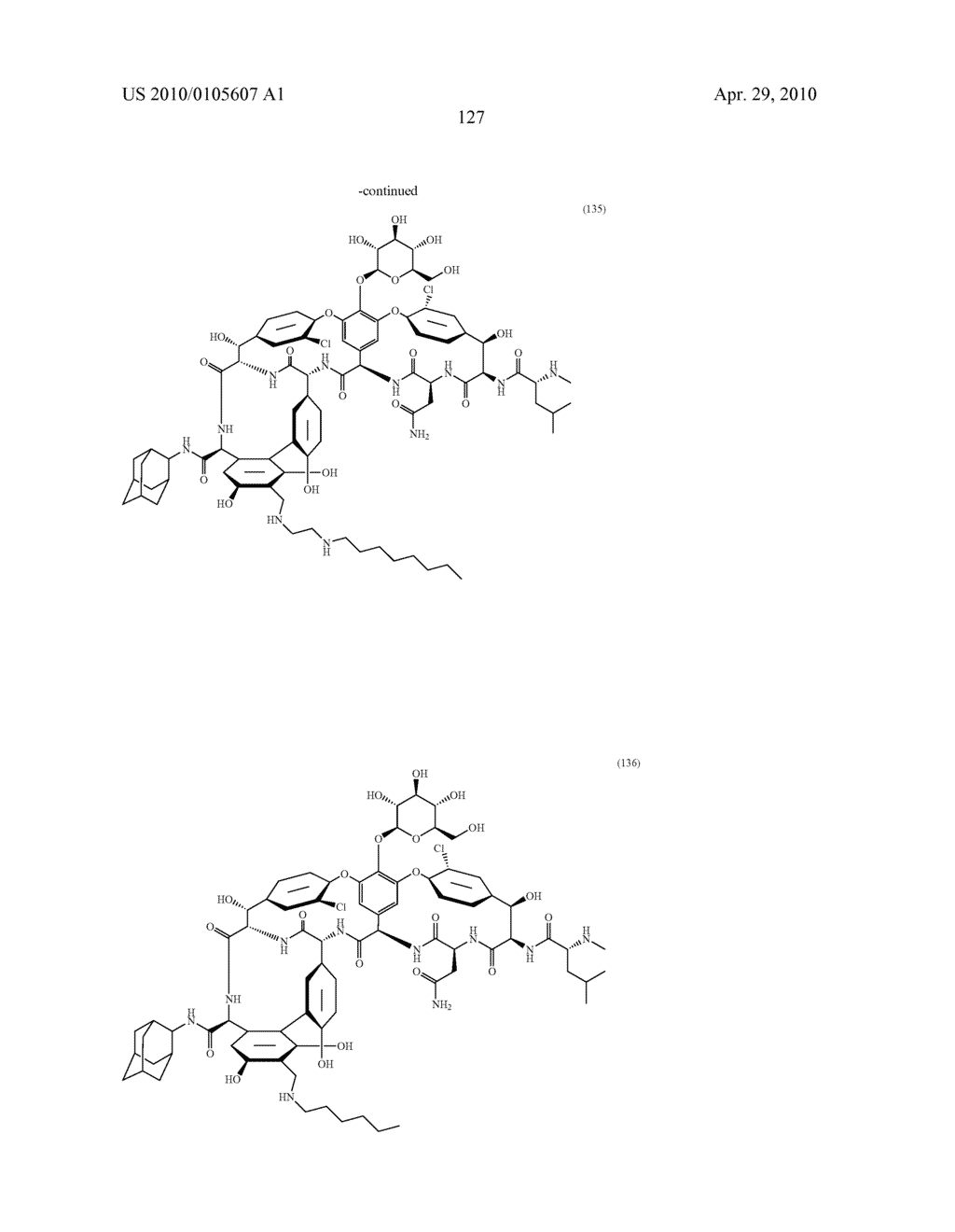 NOVEL SEMI-SYNTHETIC GLYCOPEPTIDES AS ANTIBACTERIAL AGENTS - diagram, schematic, and image 127