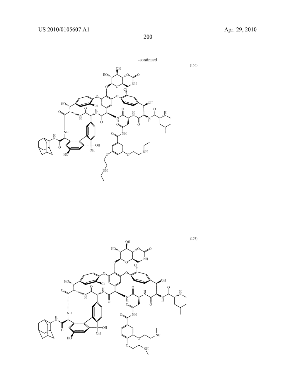 NOVEL SEMI-SYNTHETIC GLYCOPEPTIDES AS ANTIBACTERIAL AGENTS - diagram, schematic, and image 200