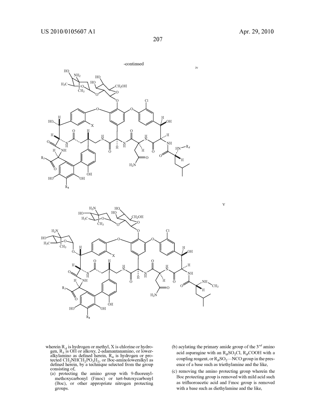NOVEL SEMI-SYNTHETIC GLYCOPEPTIDES AS ANTIBACTERIAL AGENTS - diagram, schematic, and image 207